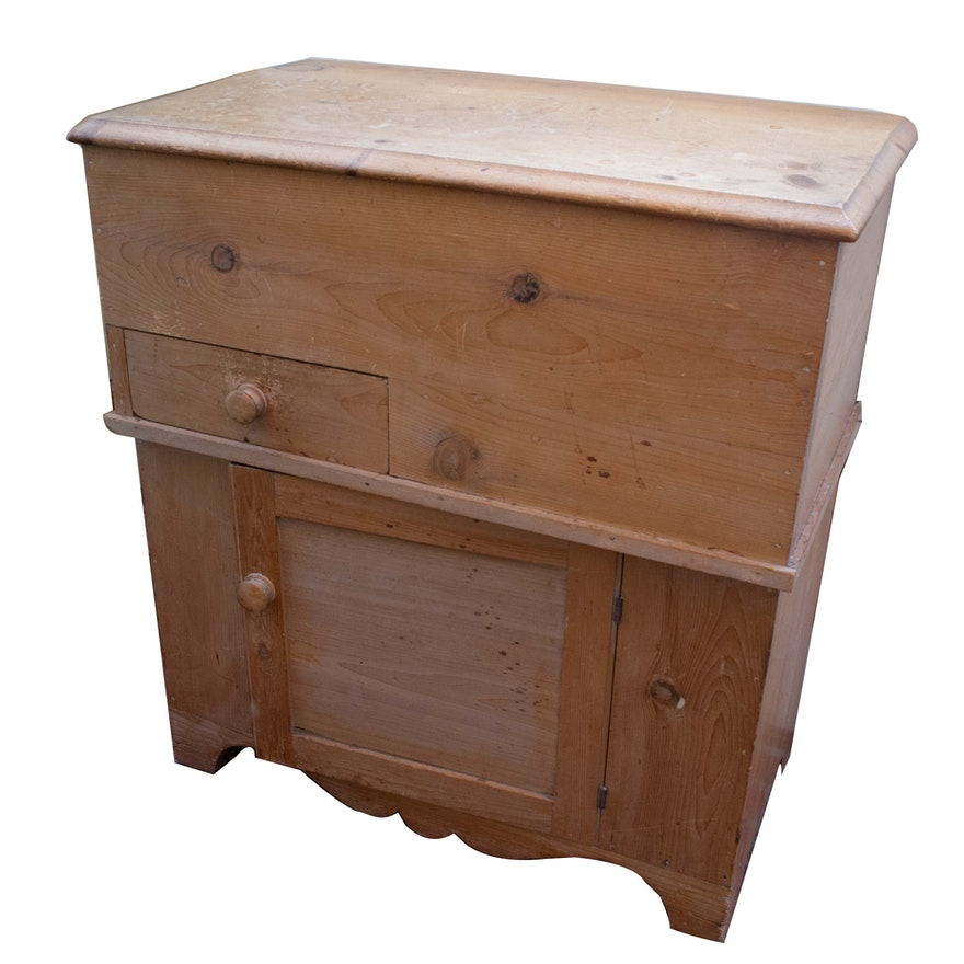 Antique Pine Dry Sink Cabinet