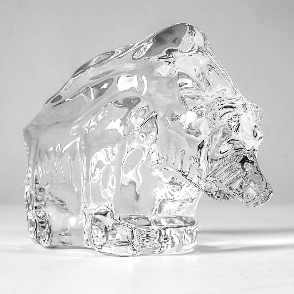 Orrefors Crystal Bear Figurine
