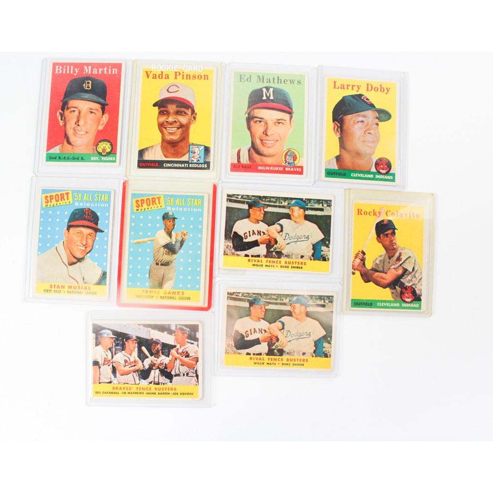 1958 Stars Baseball Cards