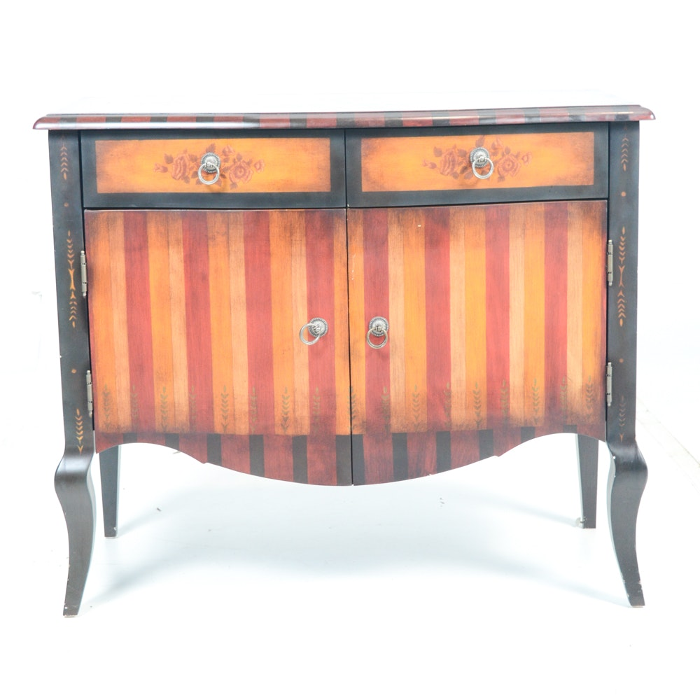 Victorian-Inspired Painted Wood Accent Chest