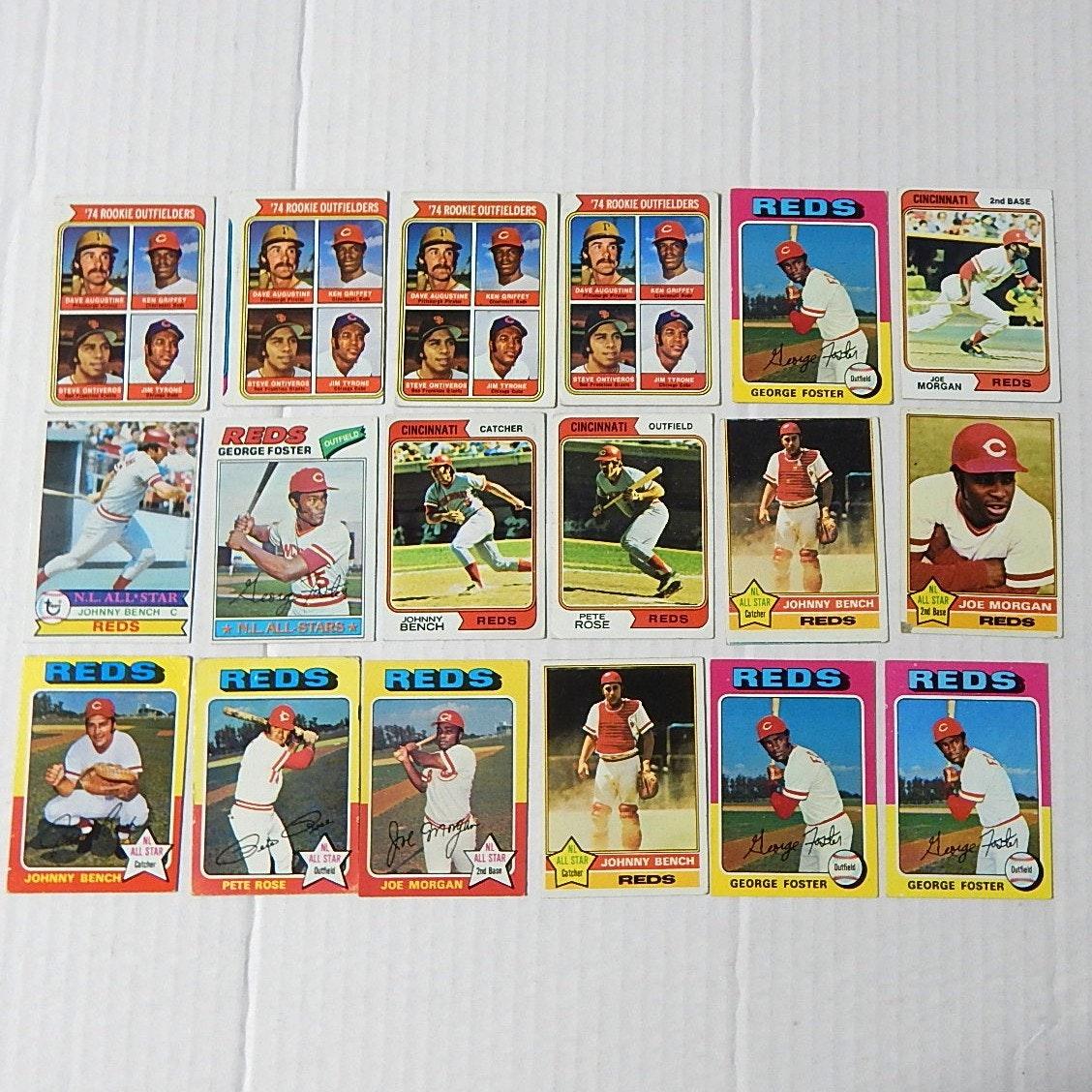 1970s TOPPS Big Red Machine Card Lot