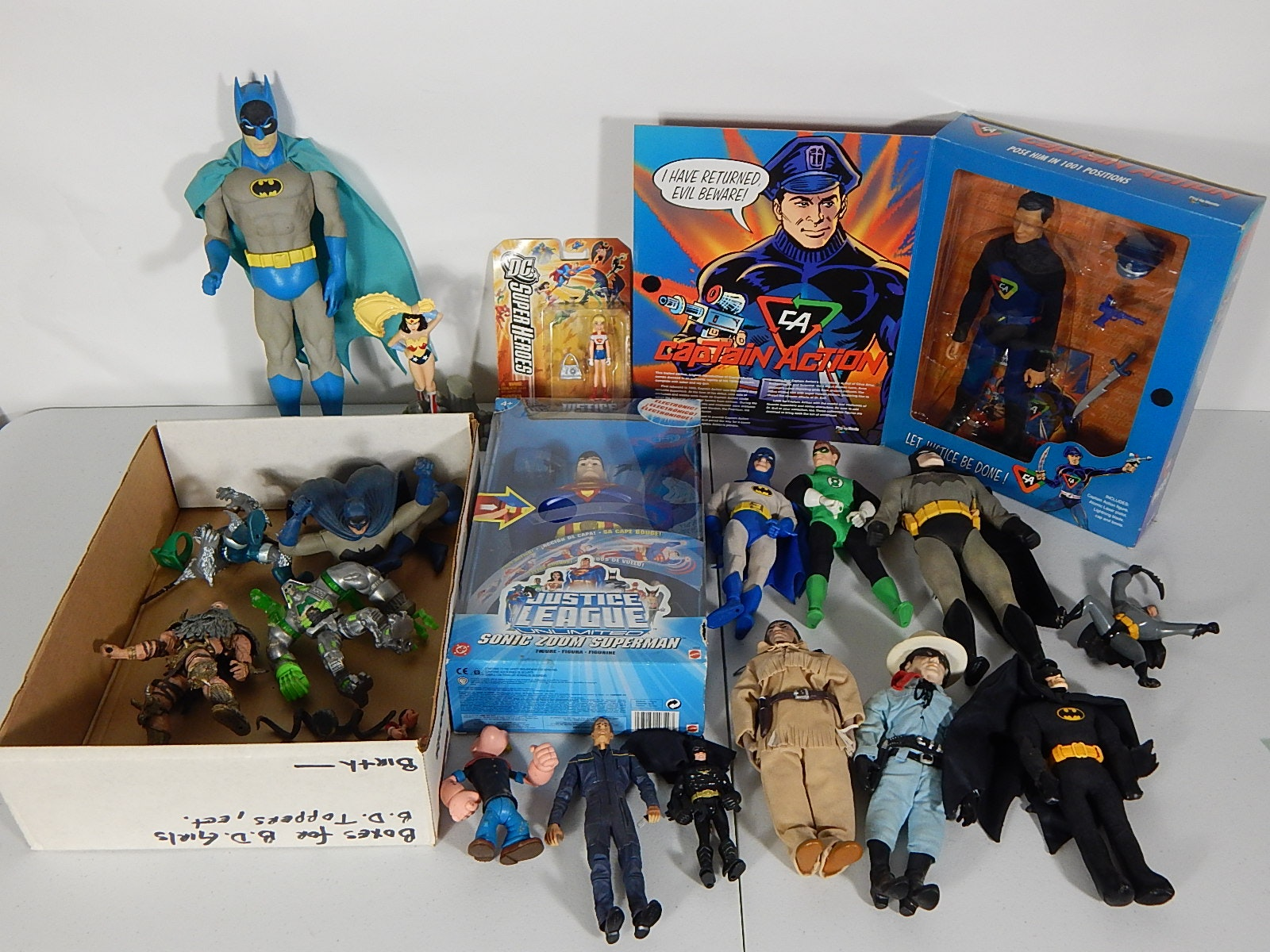 Toy Action Figure Lot with Batman, Superman, and More