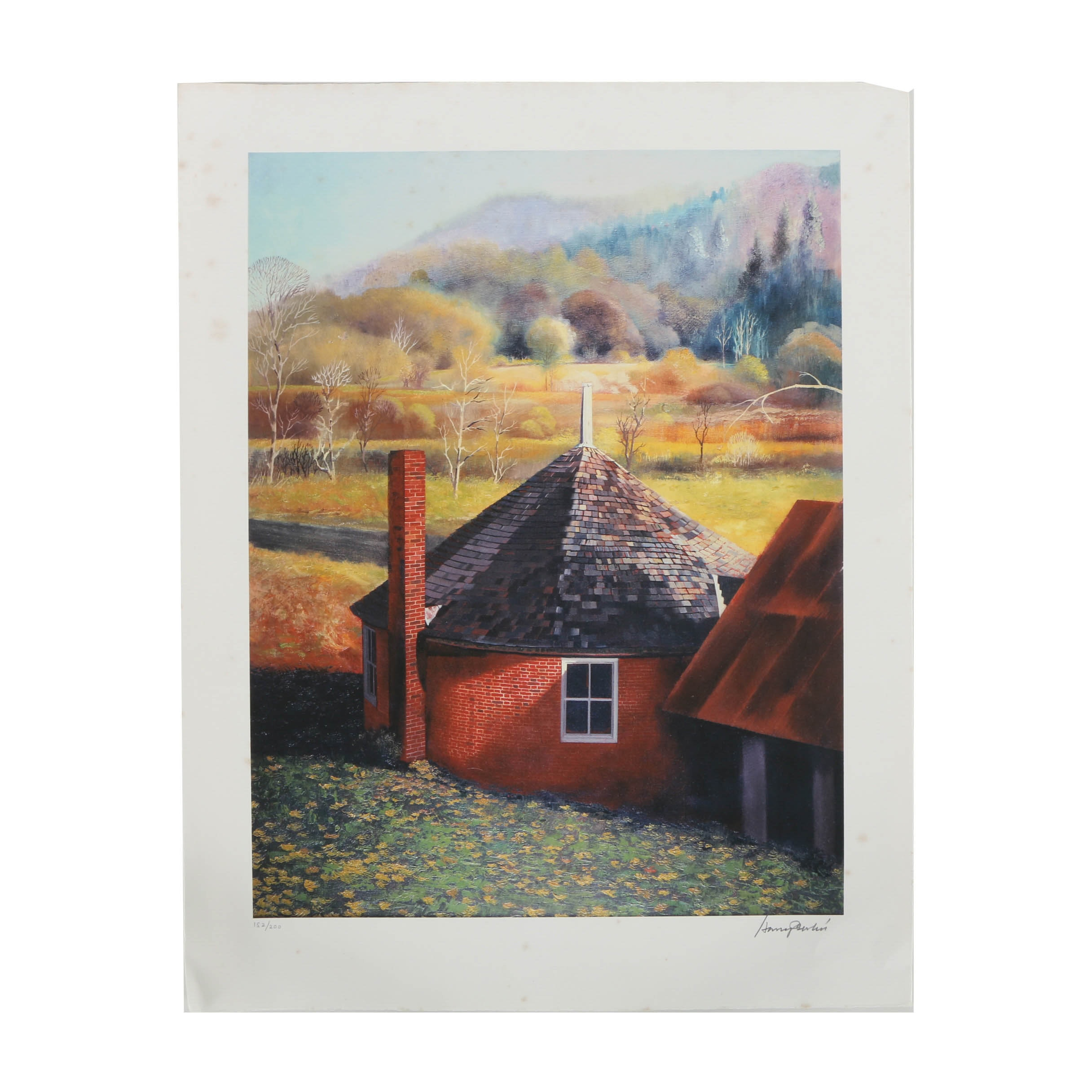 Limited Edition Giclee Print on Paper of Painting