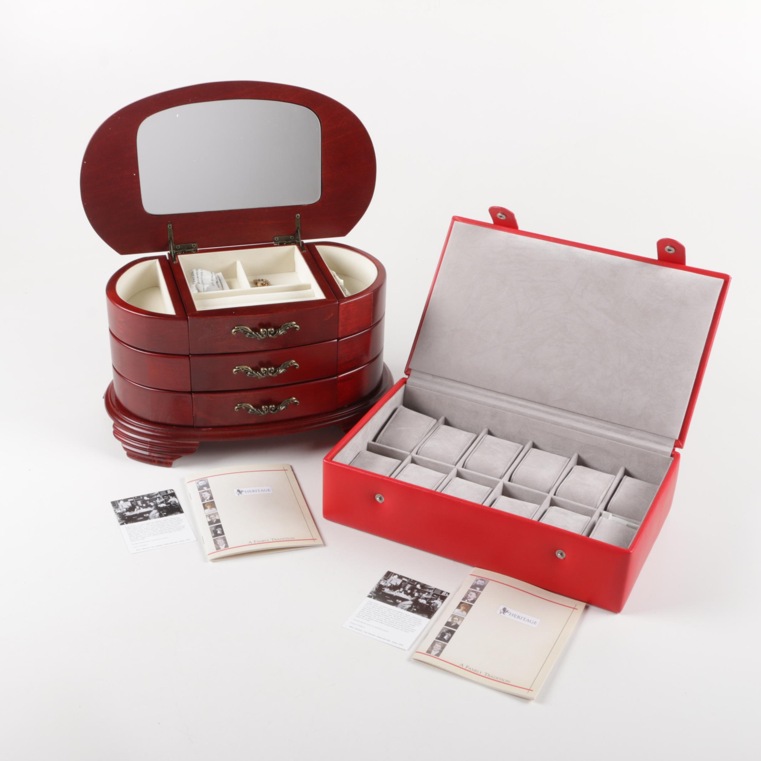 Pairing of Heritage Jewelry Boxes
