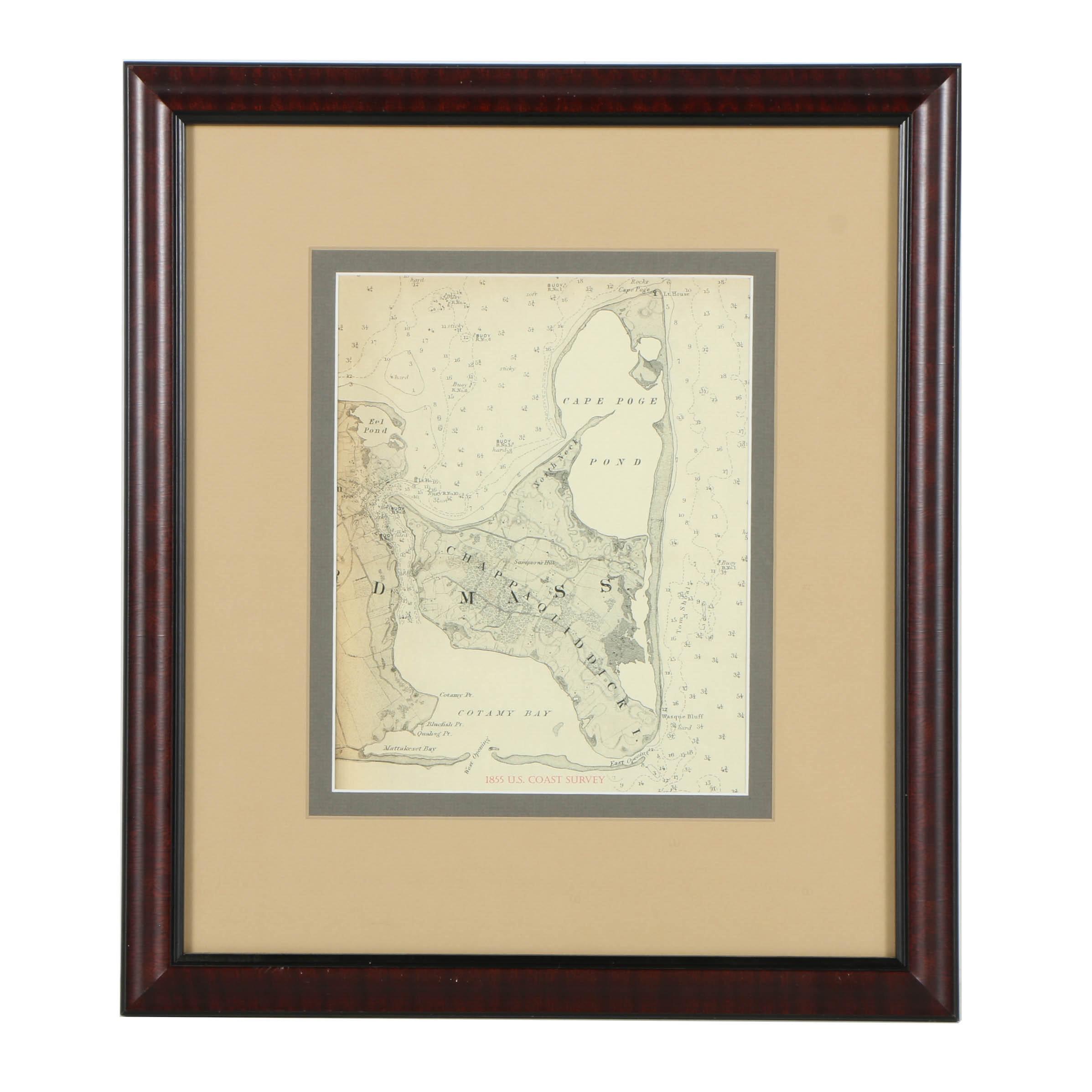 Reproduction Print of Chappaquiddick Island Map