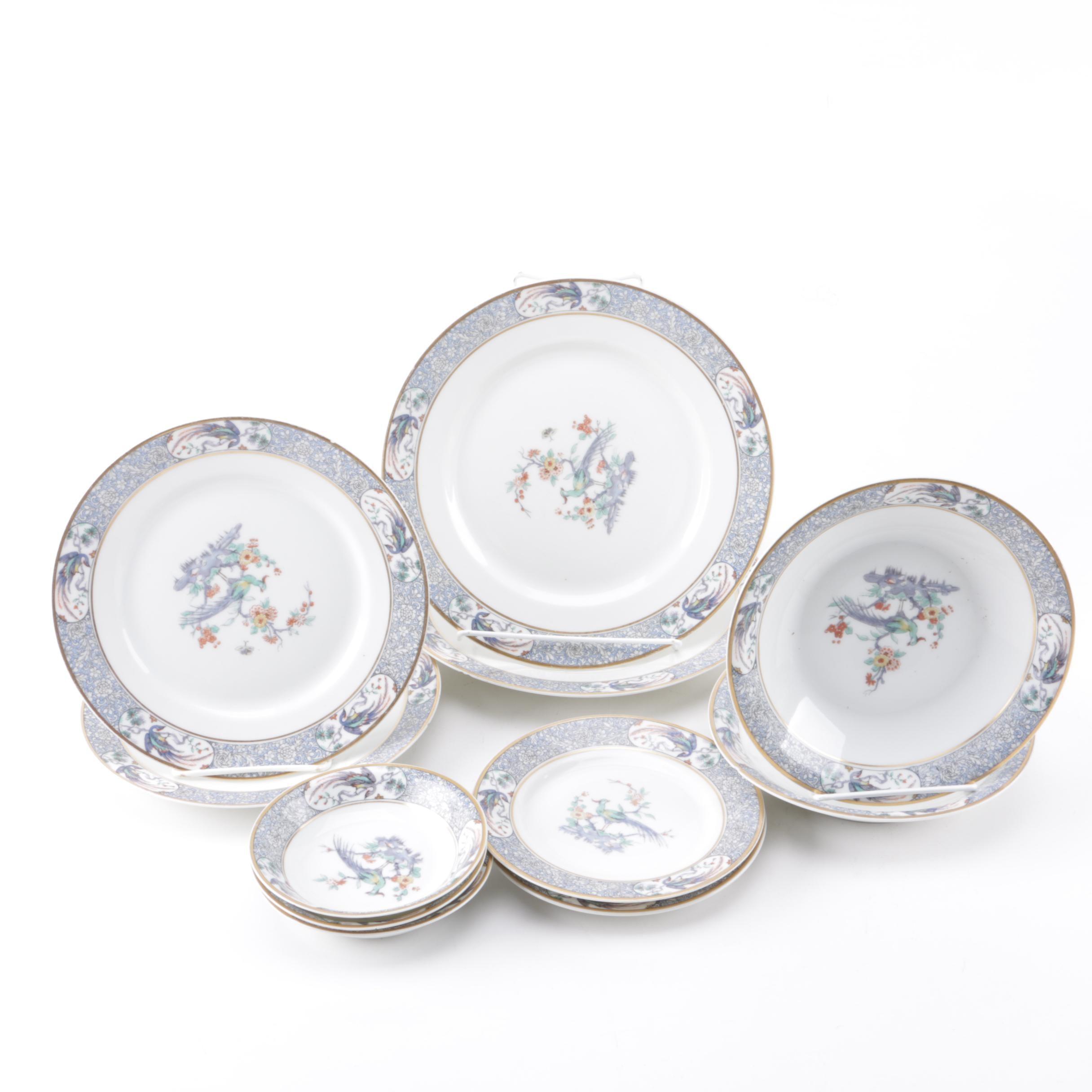 "Early 20th Century Theodore Haviland Limoges ""Rajah"" Porcelain Tableware"