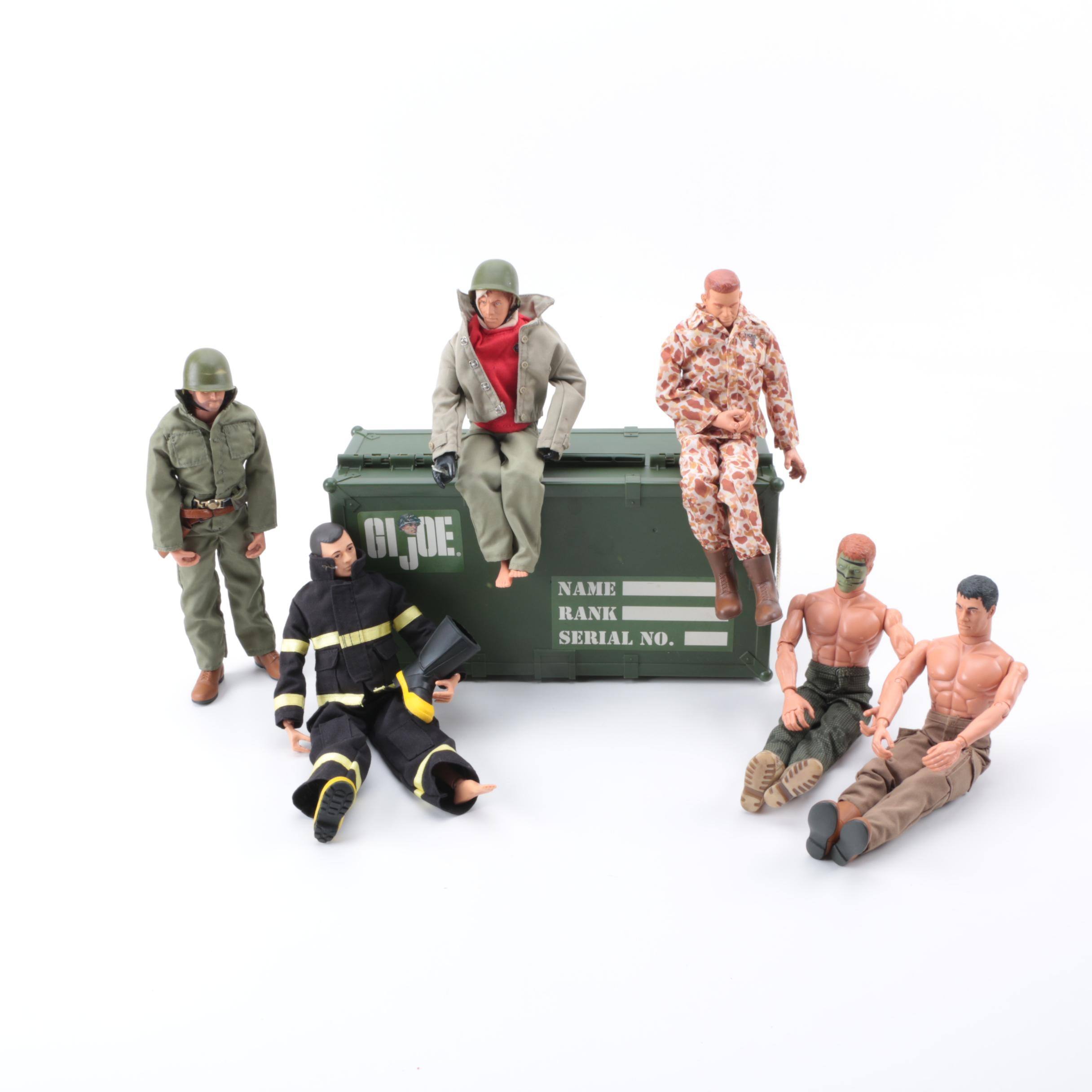 Collection of Twelve Inch G.I. Figures and Accessories