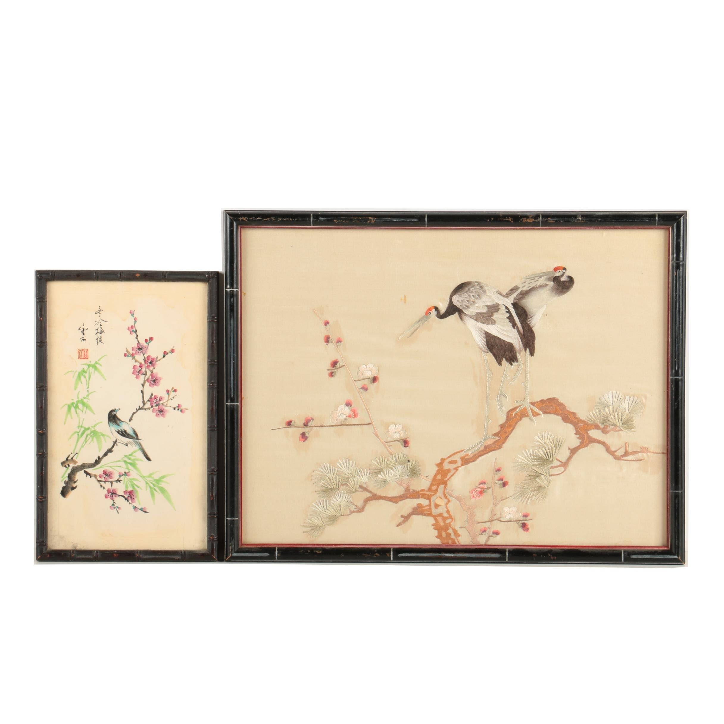 Chinese Embroidery and Painting of Birds
