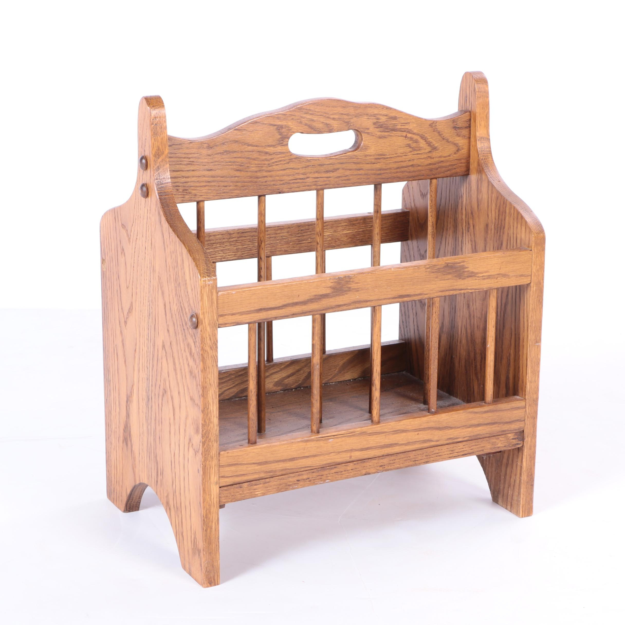 Oak Magazine Rack