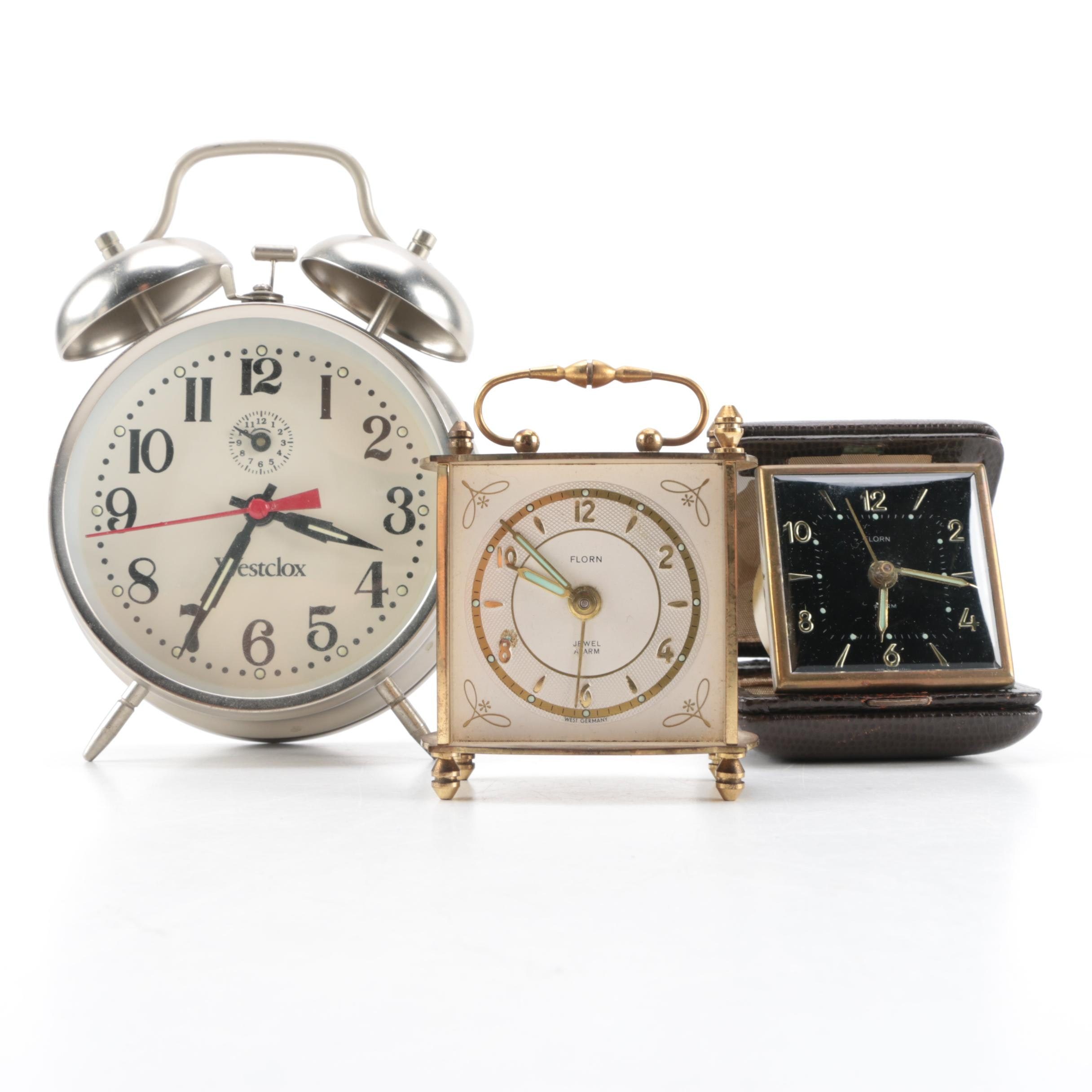 Florn and Westclox Alarm Clocks