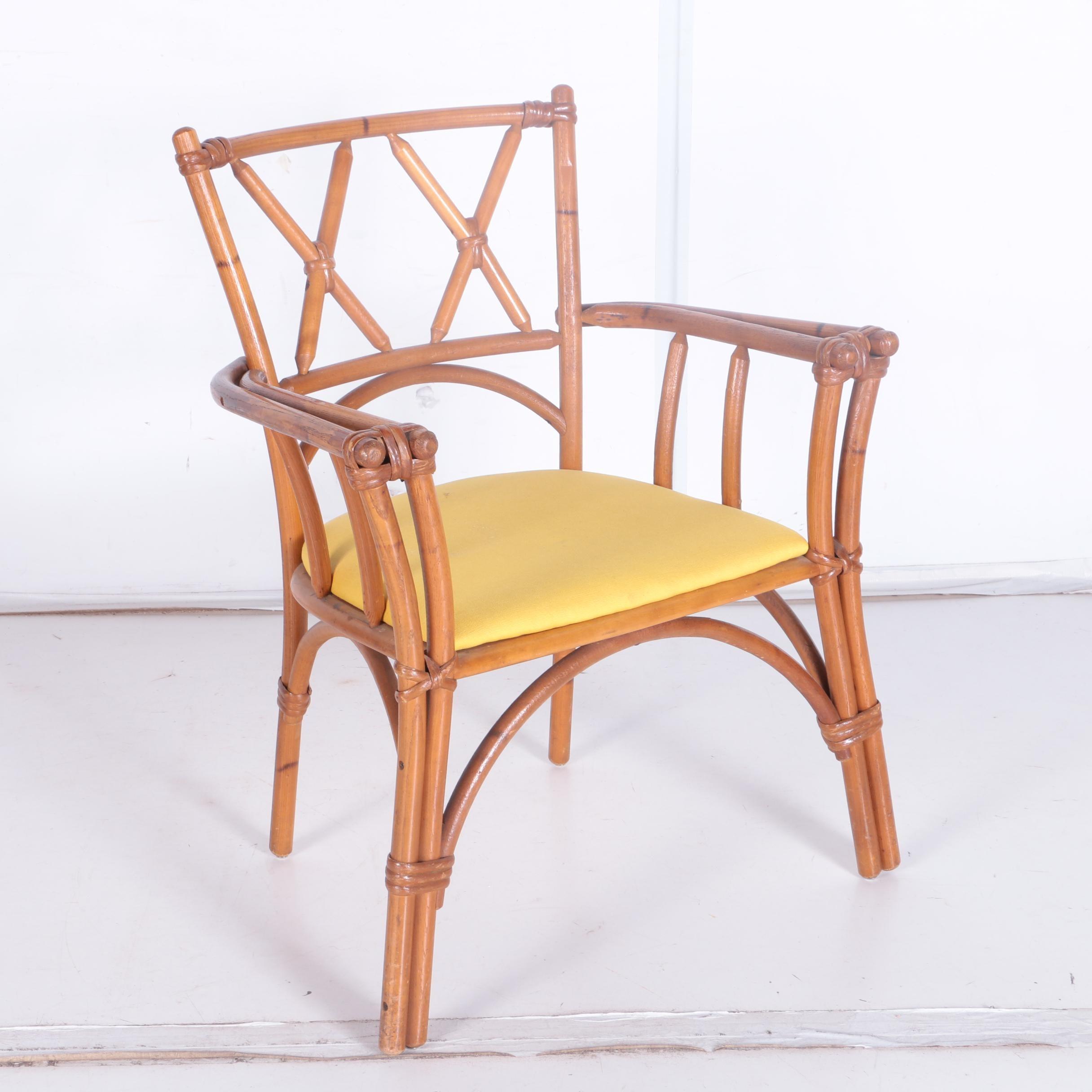 Vintage Rattan Style Arm Chair by Heywood-Wakefield