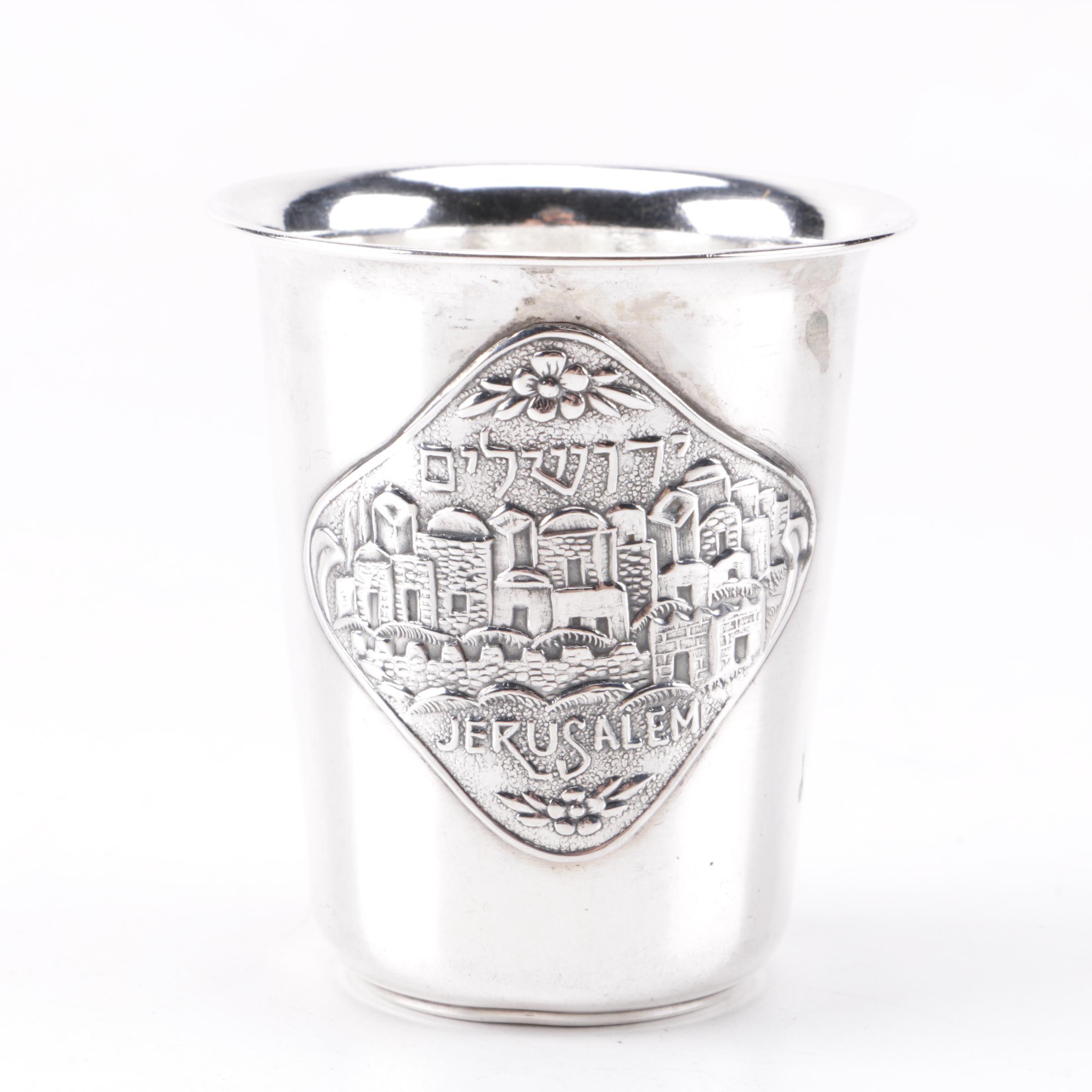 Israeli 800 Silver Kiddush Cup