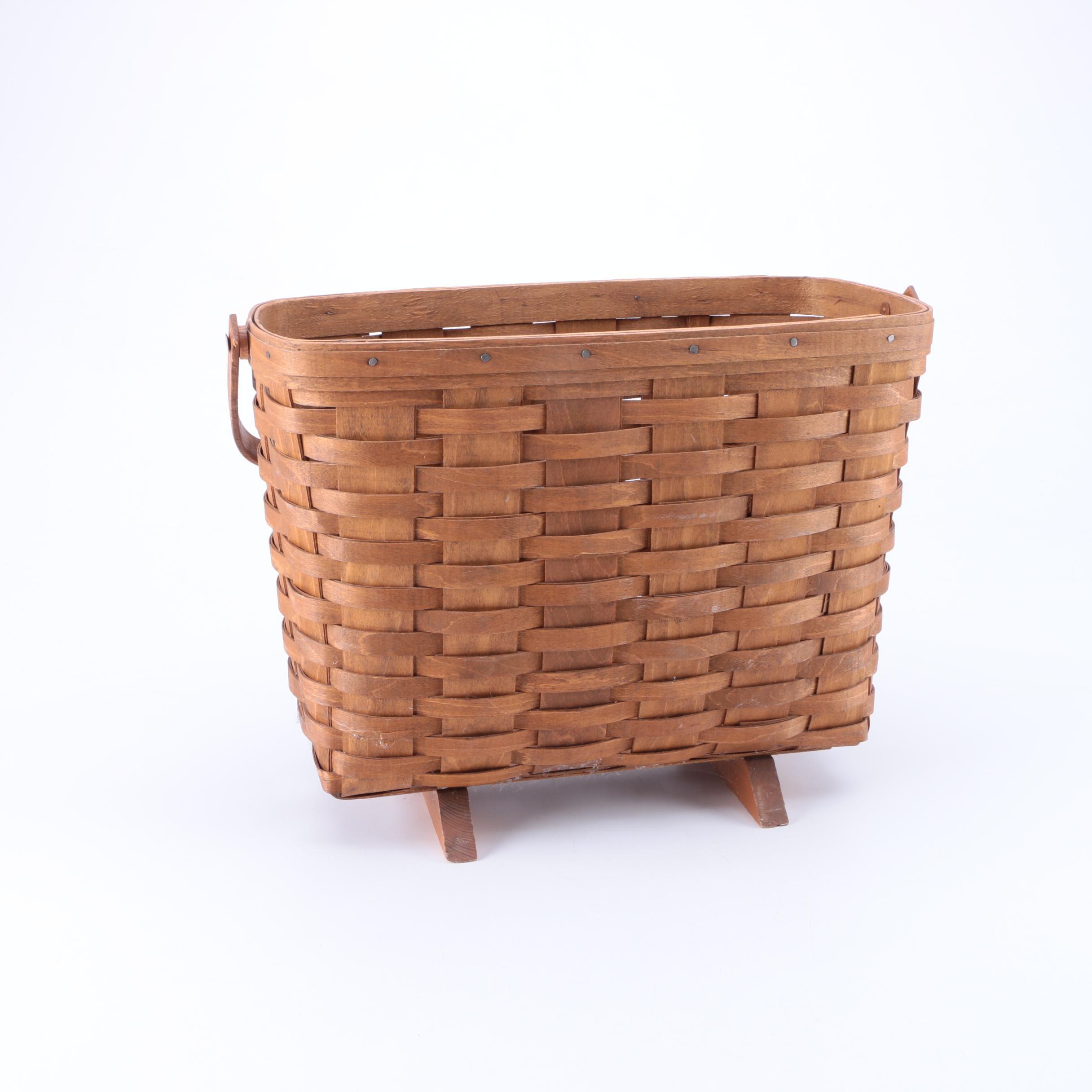 Longaberger Style Magazine Basket