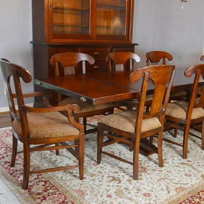arhaus tuscany dining room table and eight tuscany dining chairs      rh   ebth com