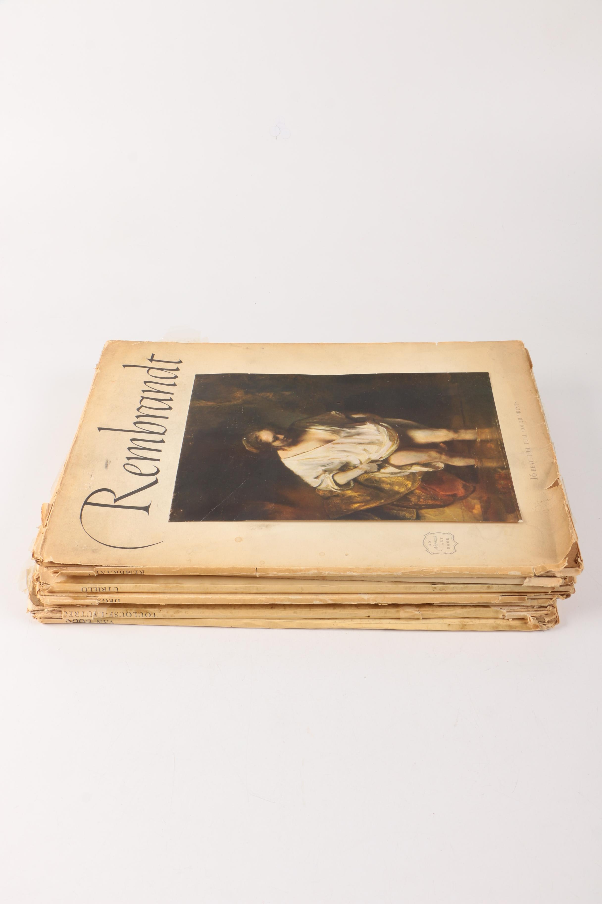 Collection of Vintage Art Print Books