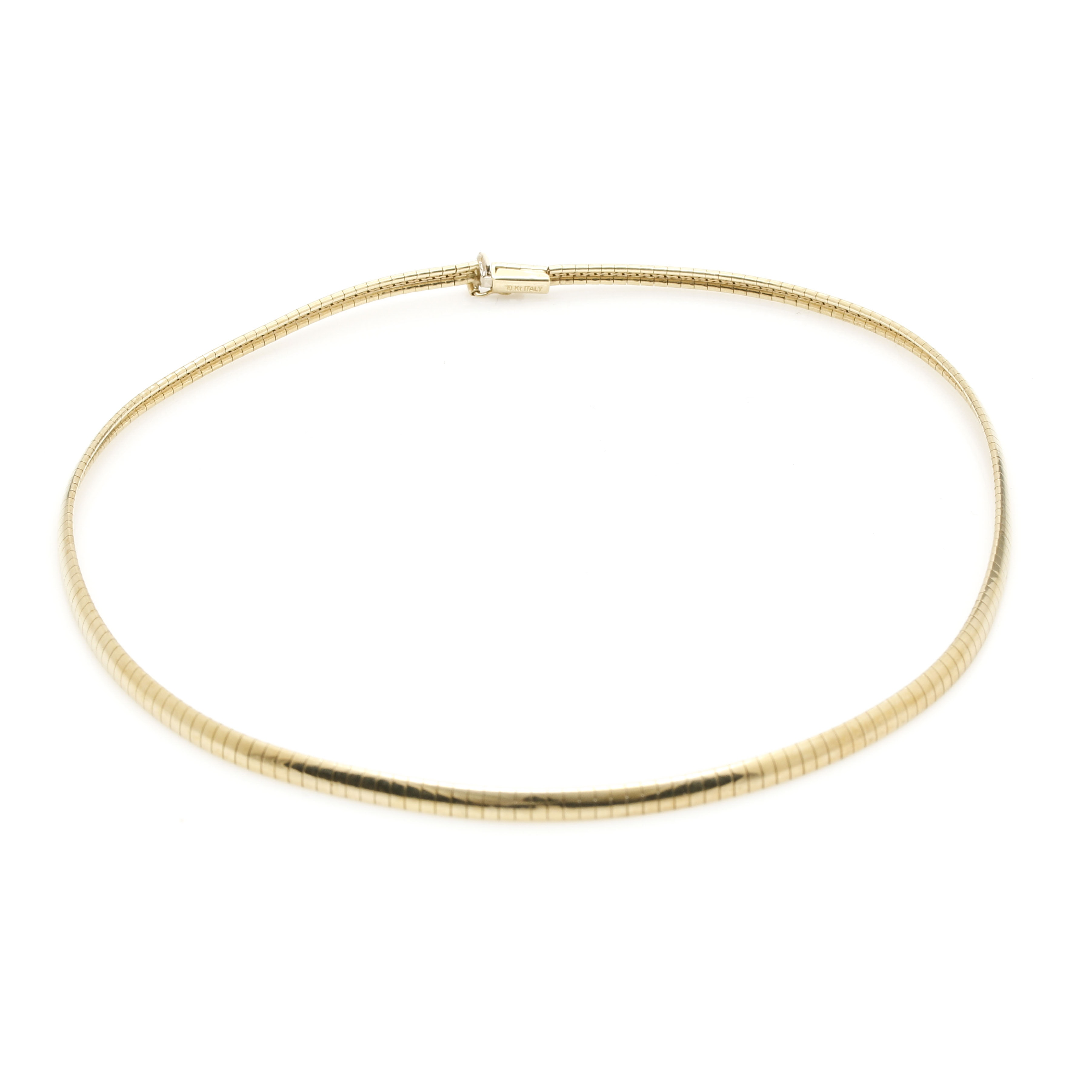 10K Yellow Gold Omega Chain Necklace