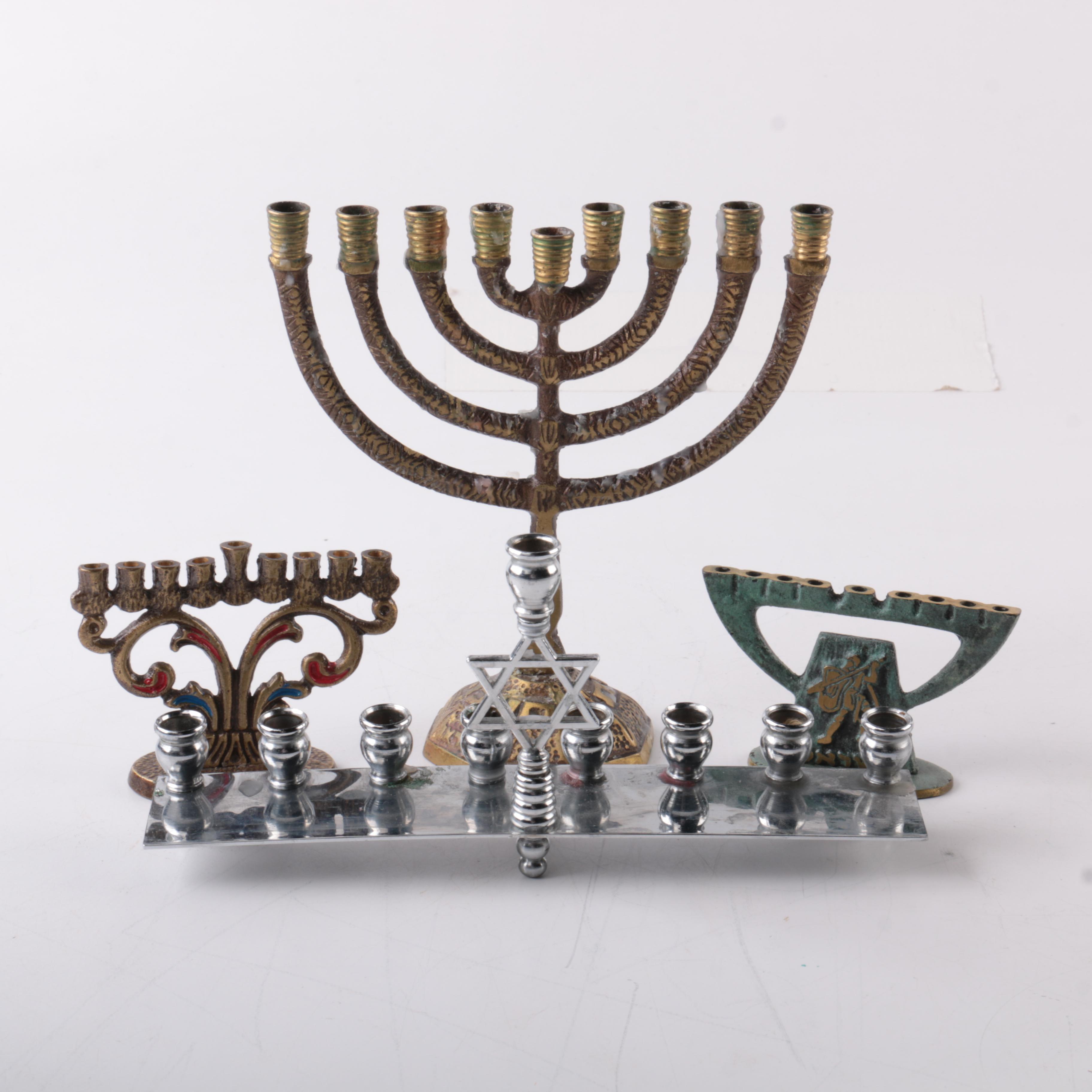 Assorted Pattern Ceremonial Menorahs