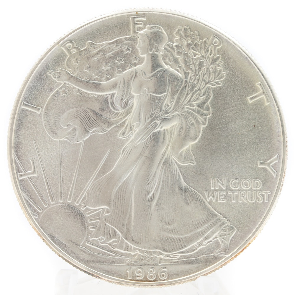 1986 American Silver Eagle One Dollar Coin