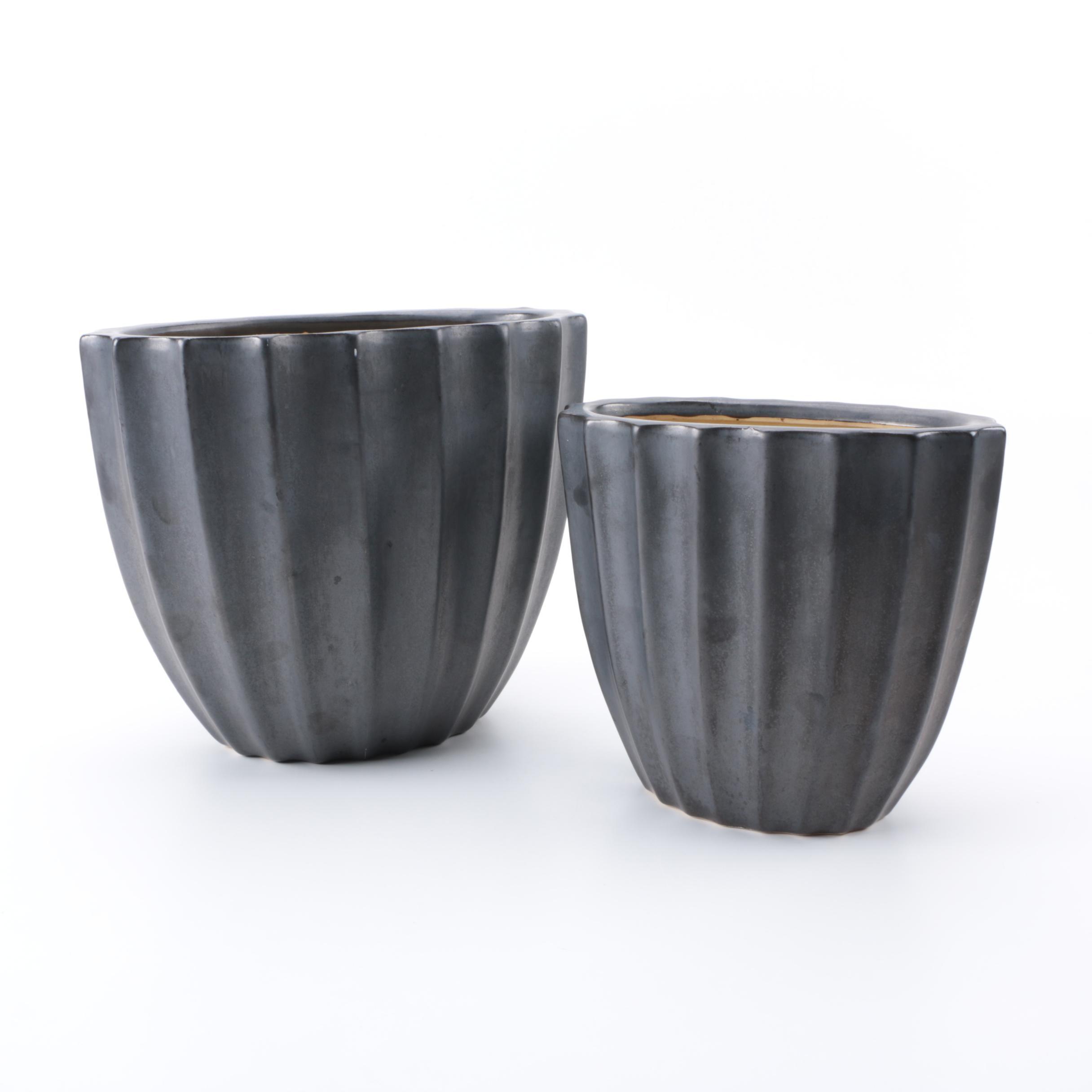 Pair of Ceramic Planters