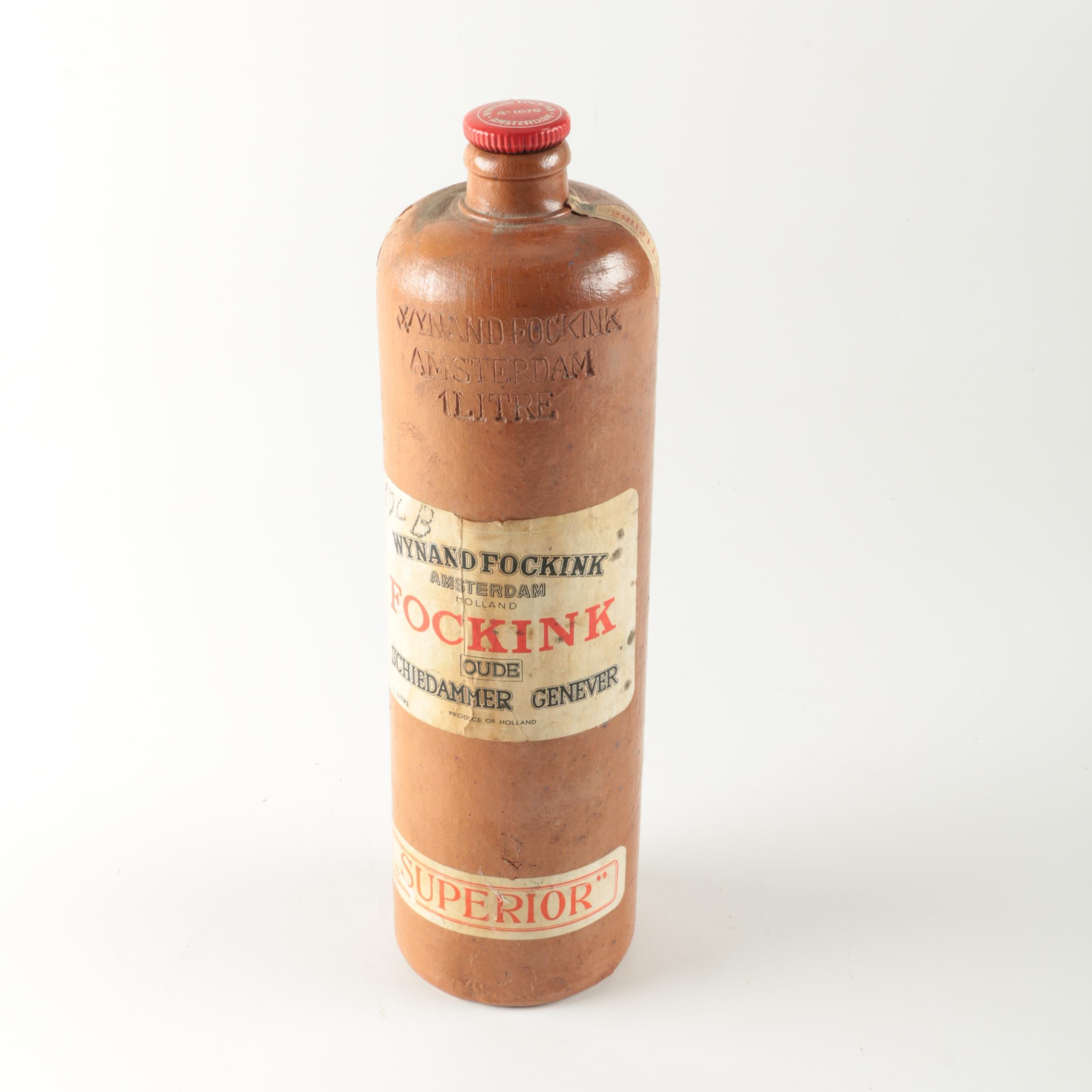 Vintage Dutch Wynand Fockink Genever Bottle