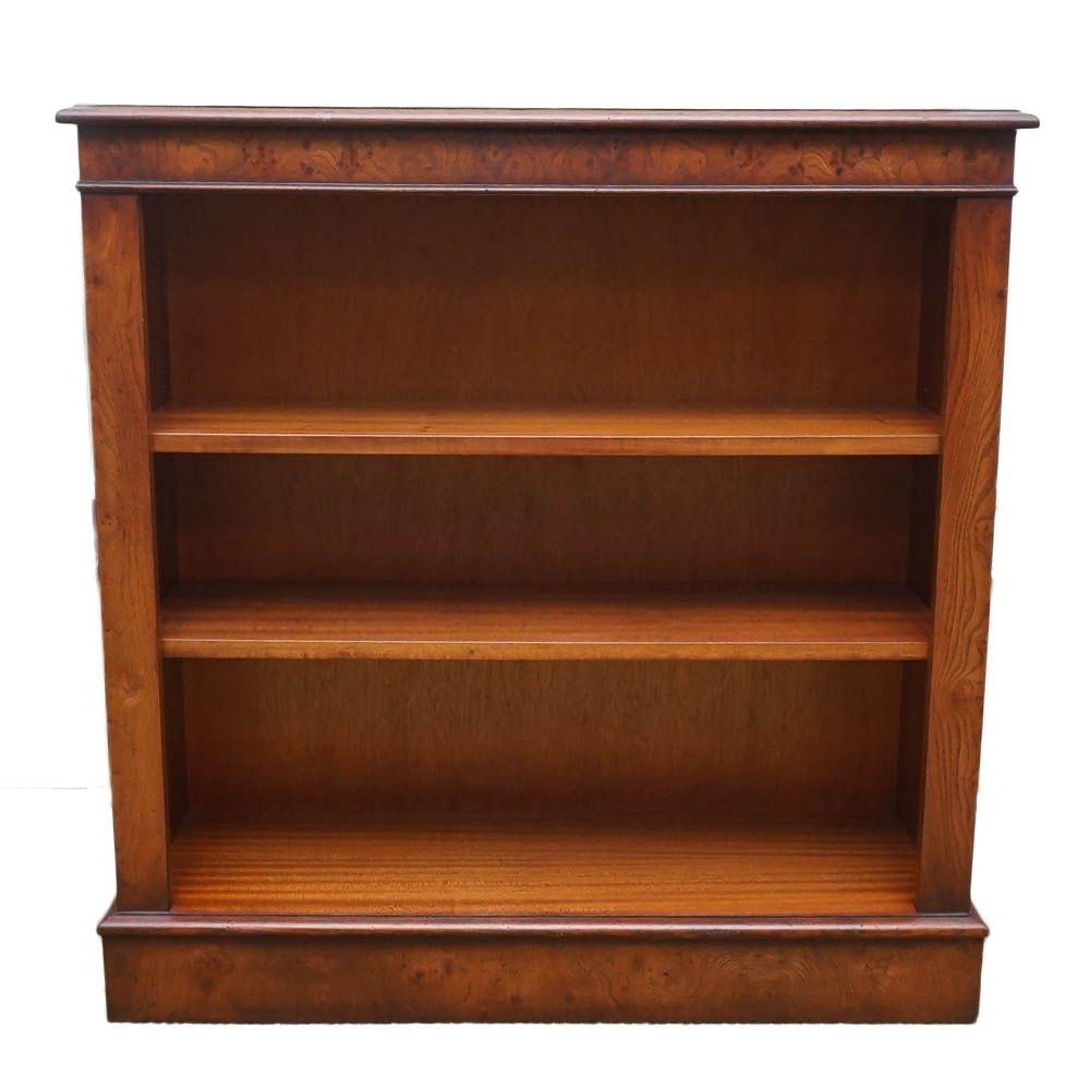 Mahogany Burl Top Book Shelf