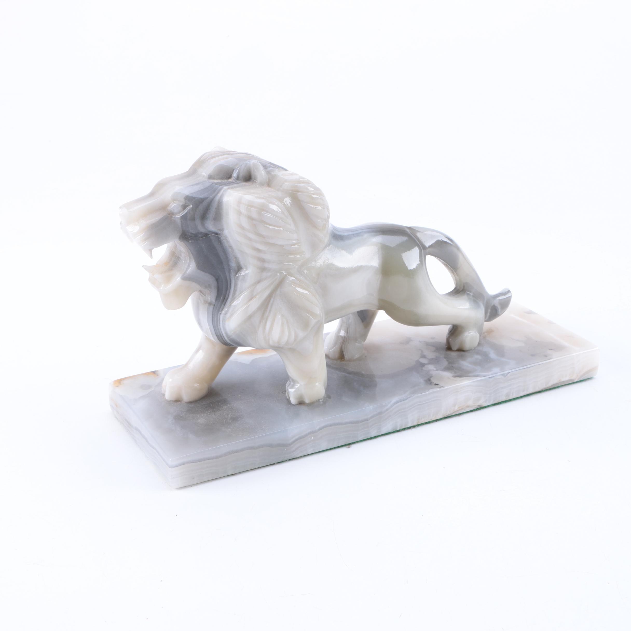 Agate Lion Figurine