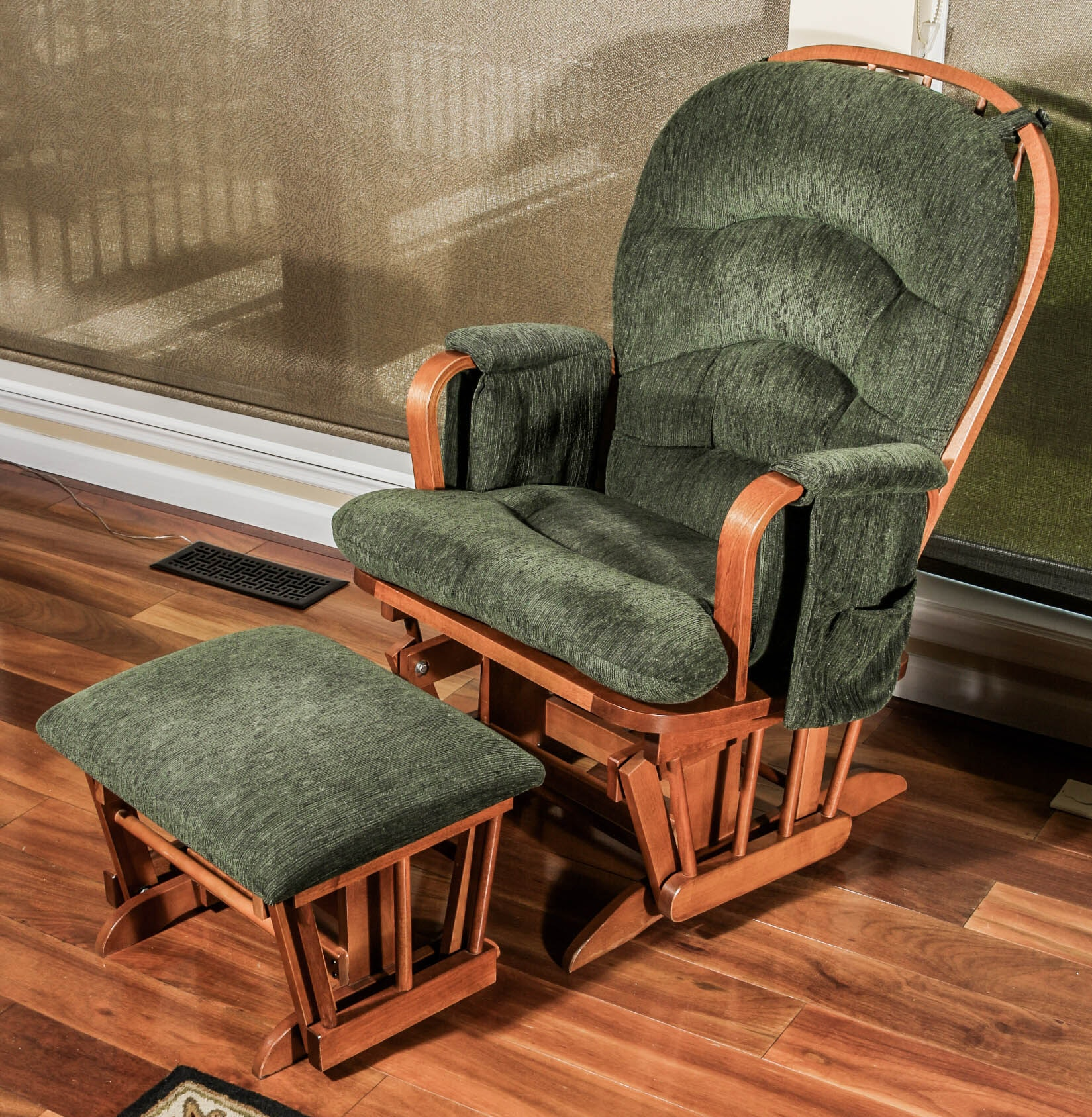 Glider Chair with Footrest