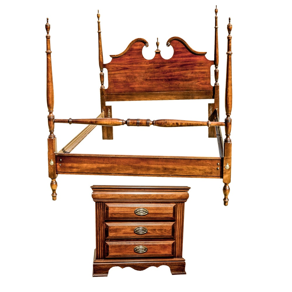 Queen Bed Frame and Nightstand