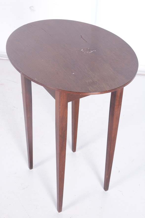 Nfpa 72 99 Table 7 3 1 Of Vintage Mahogany Side Table Ebth