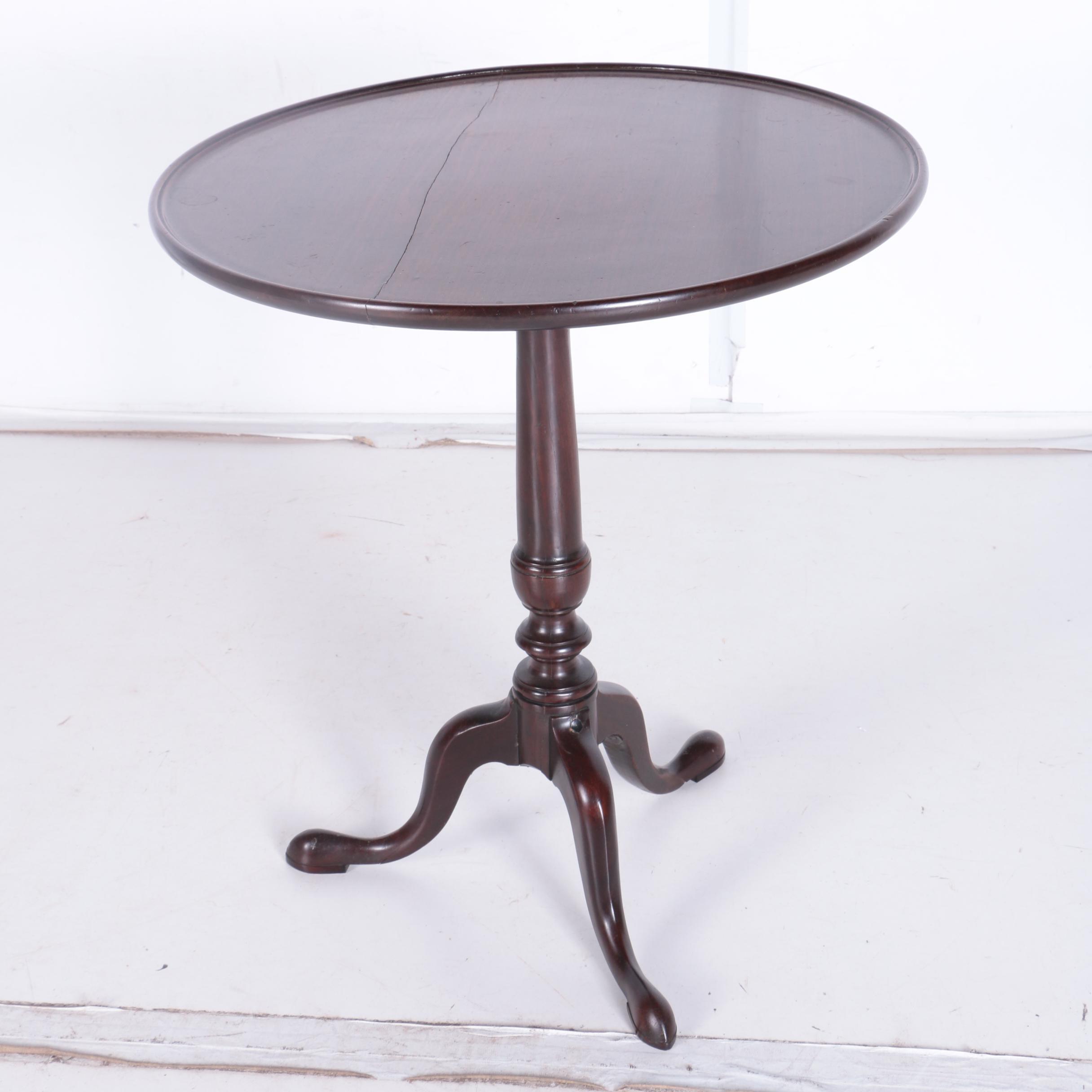 Antique English Queen Anne Mahogany Tea Table