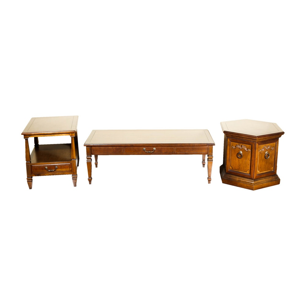 Pair of End Tables and Coffee Table