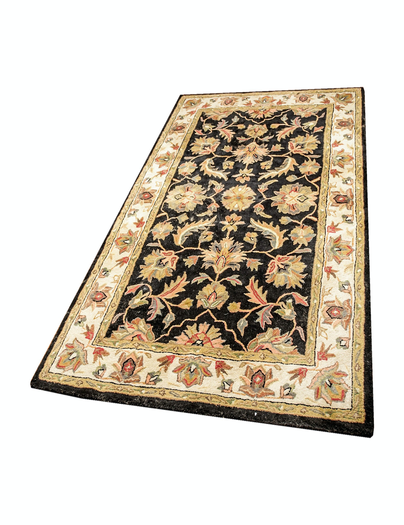 Hand Tufted Indian Agra Style Wool Area Rug by Tudor