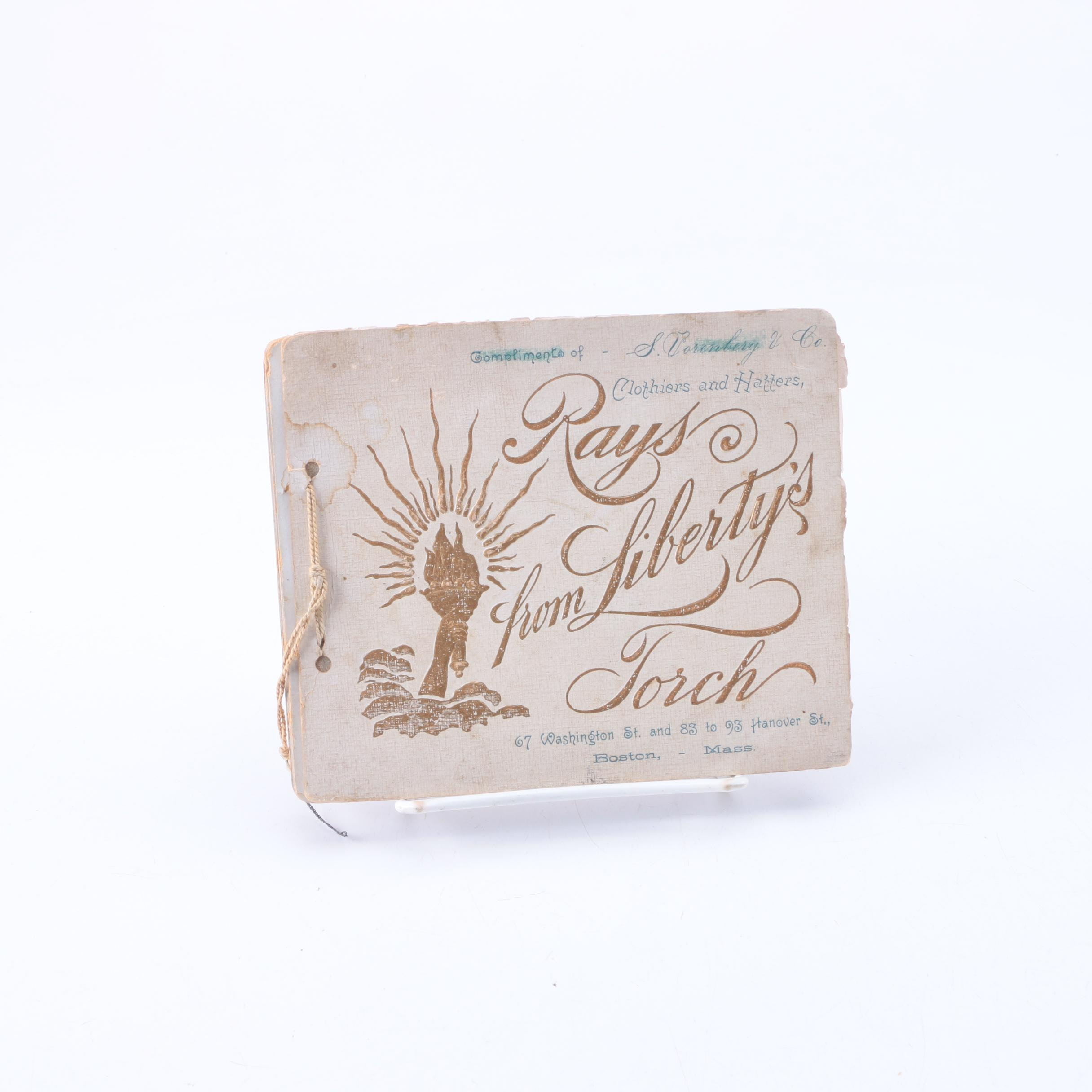 """Antique """"Rays from Liberty's Torch"""" Book by F. Schuyler Mathews"""