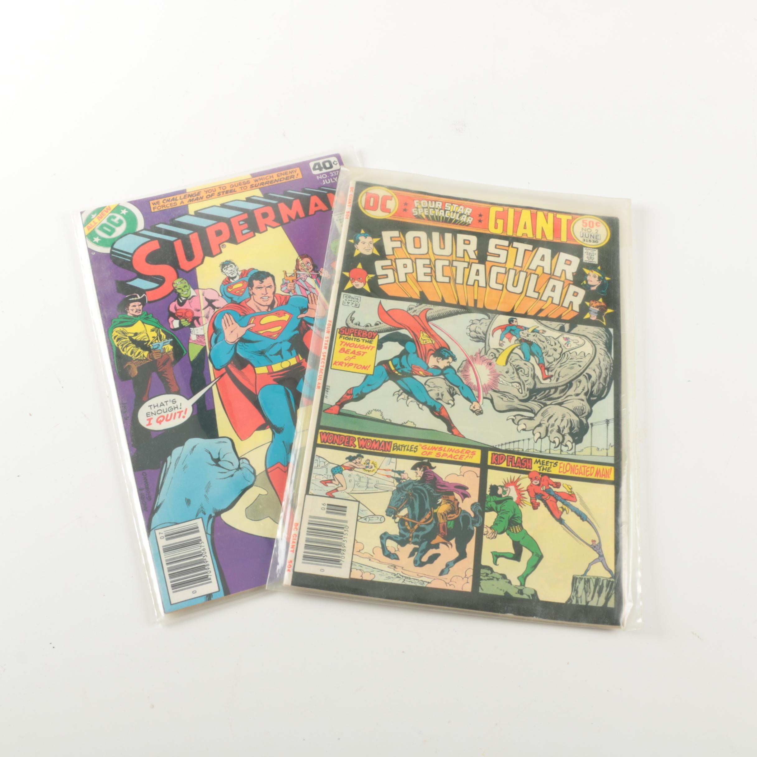 """Superman"" # 337 and ""Four Star Spectacular"" # 2 Comics"
