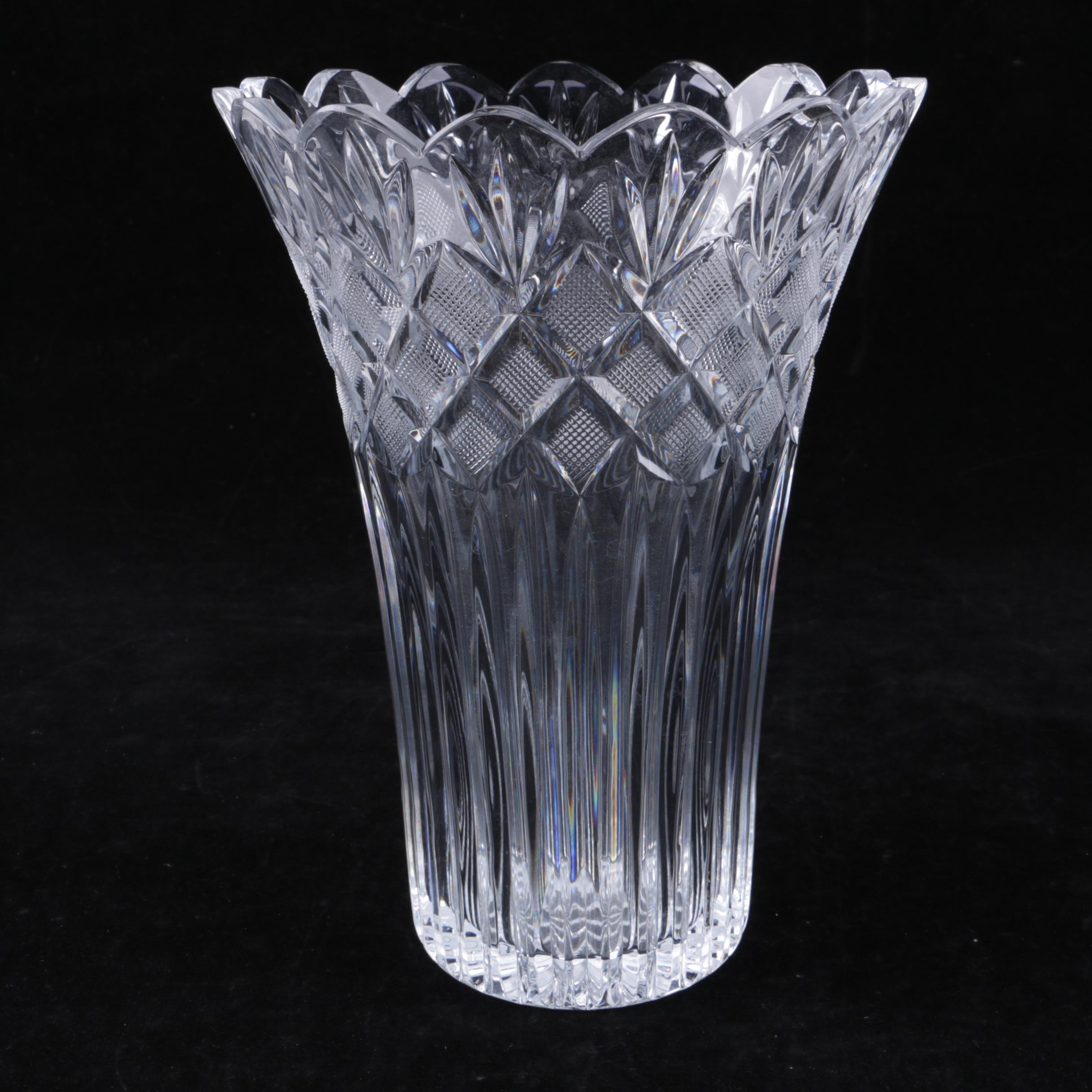 "Waterford Crystal ""Romance of Ireland: Irish Lace"" Vase"