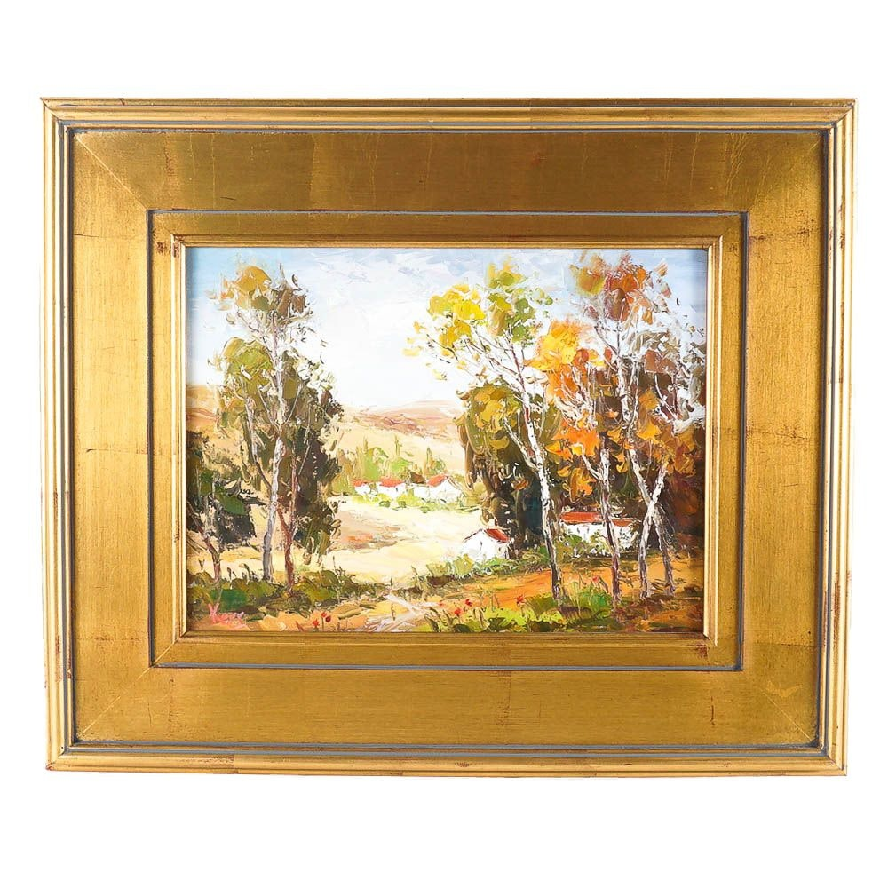 Original Oil Painting on Canvas Autumnal Landscape