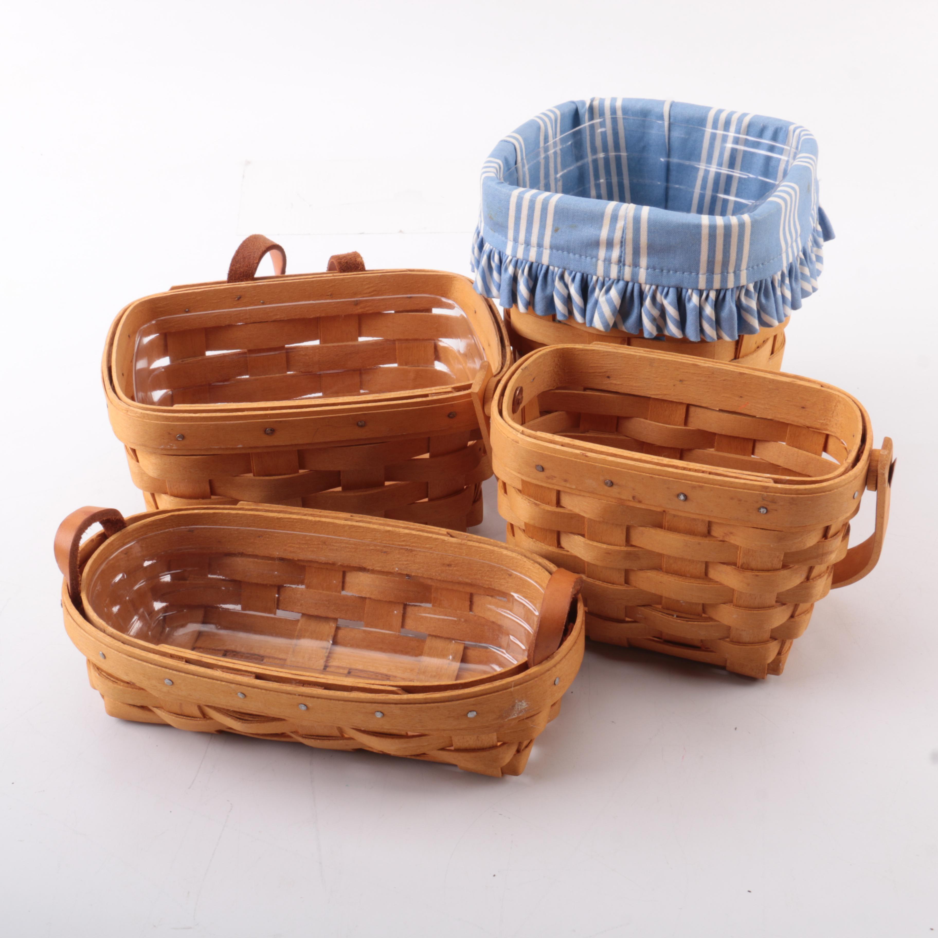Set of Longaberger Wooden Baskets