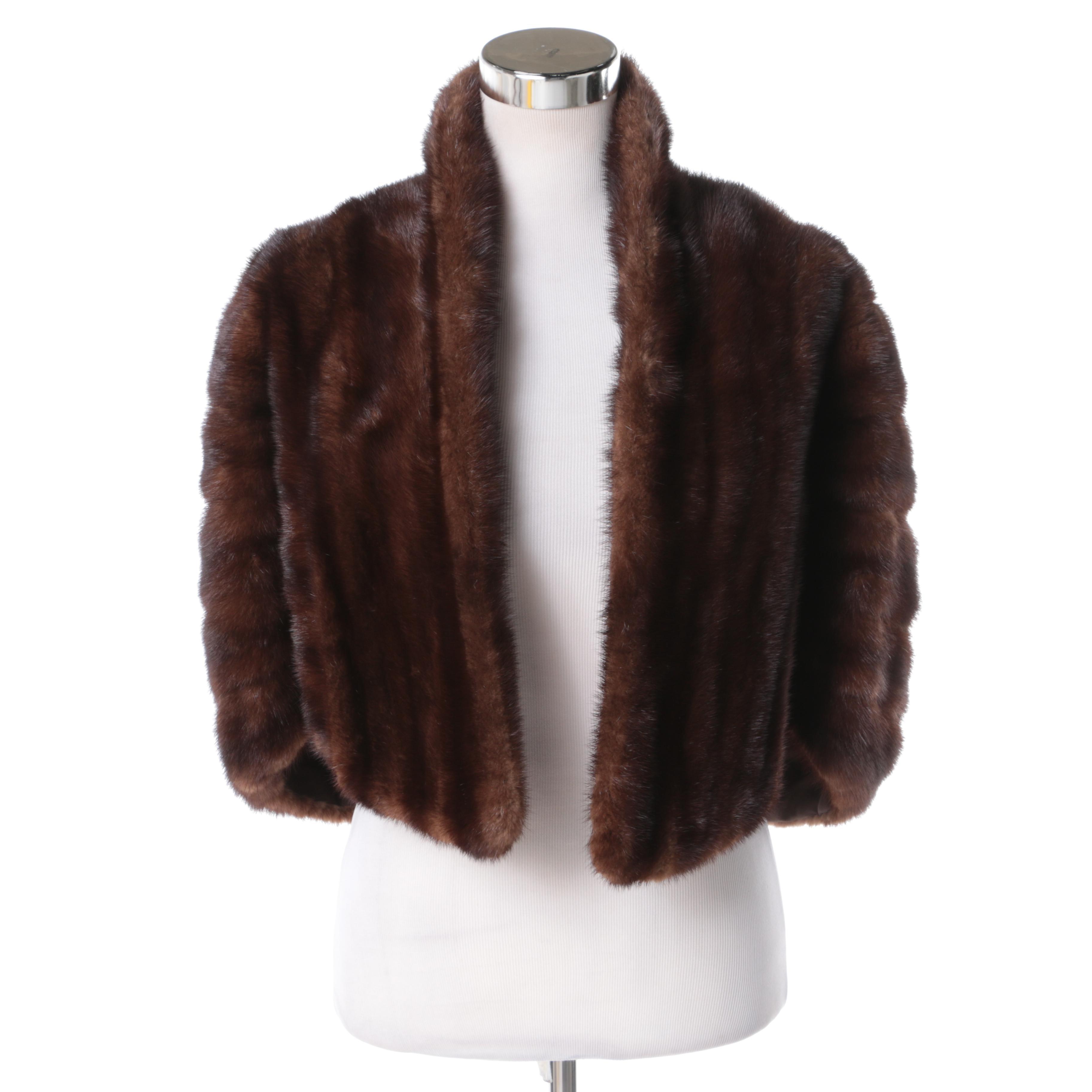 Women's Mink Fur Cape
