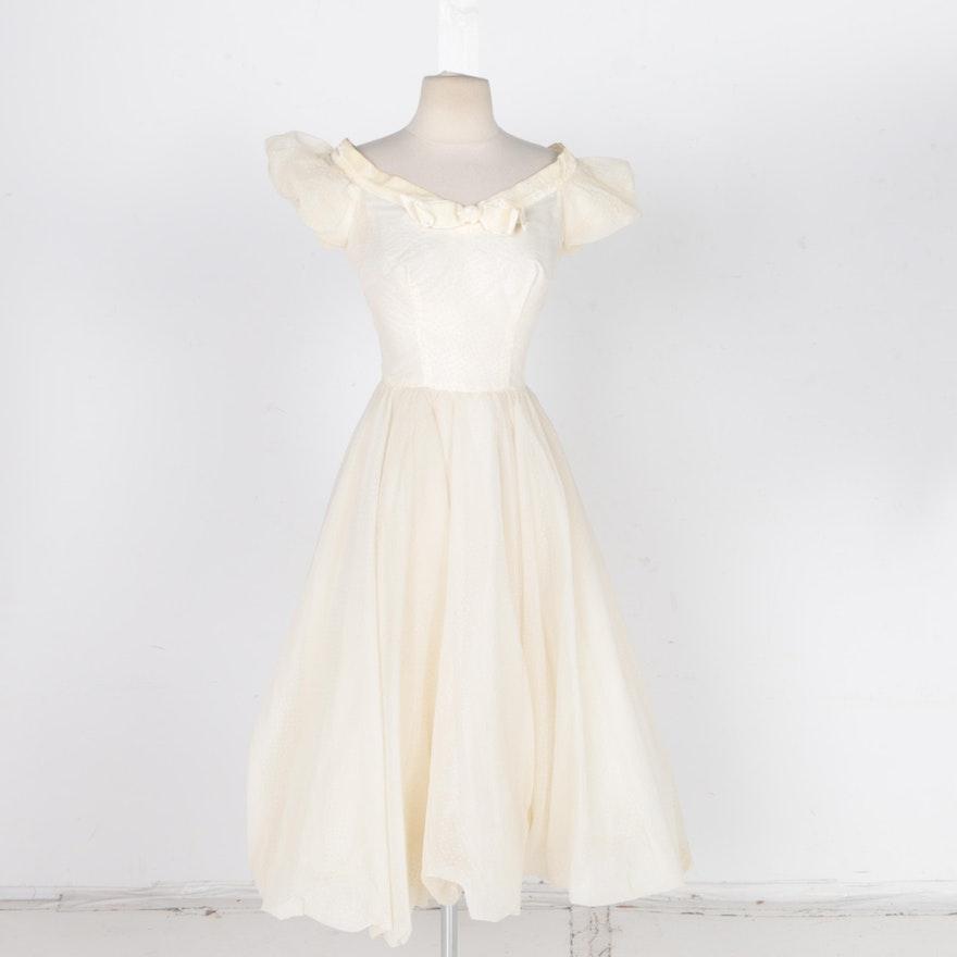 466707fb589 Vintage White Semi-Formal Party Dress   EBTH