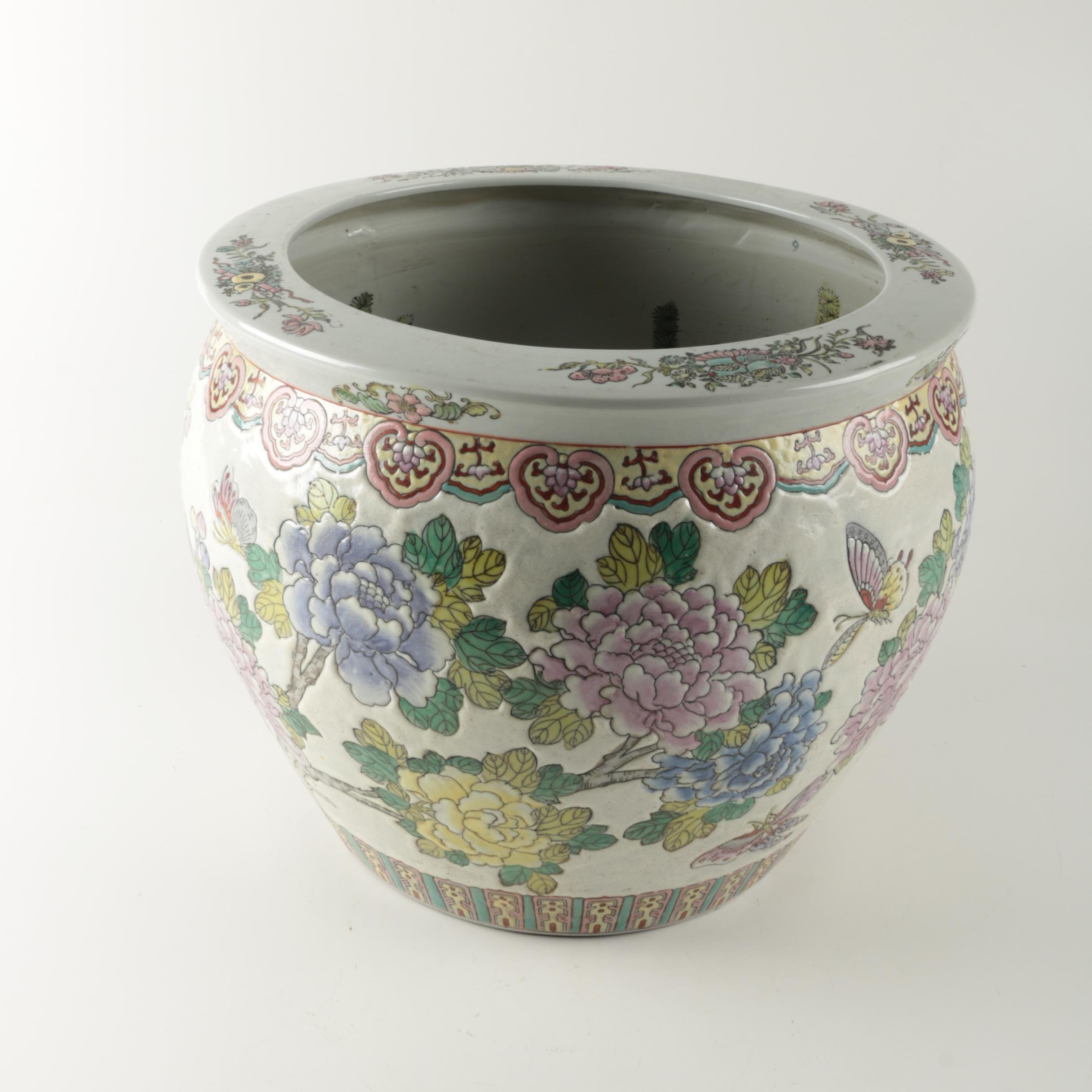 Large Asian Jardiniere
