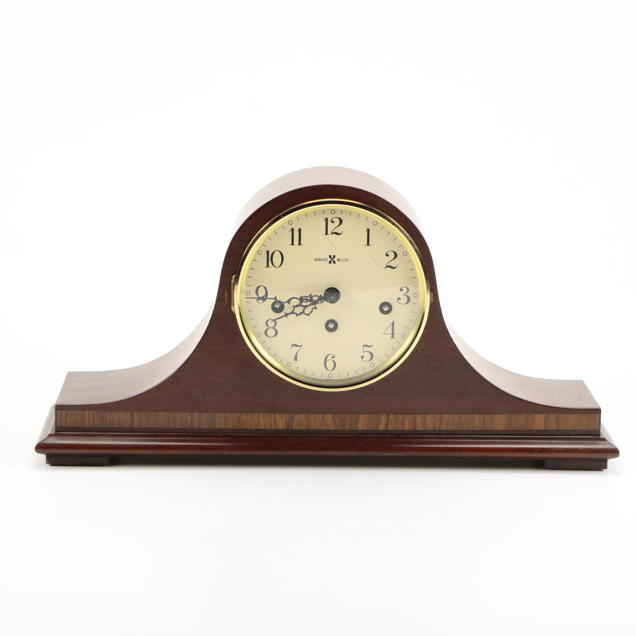 Howard Miller Tambour Style Mantel Clock