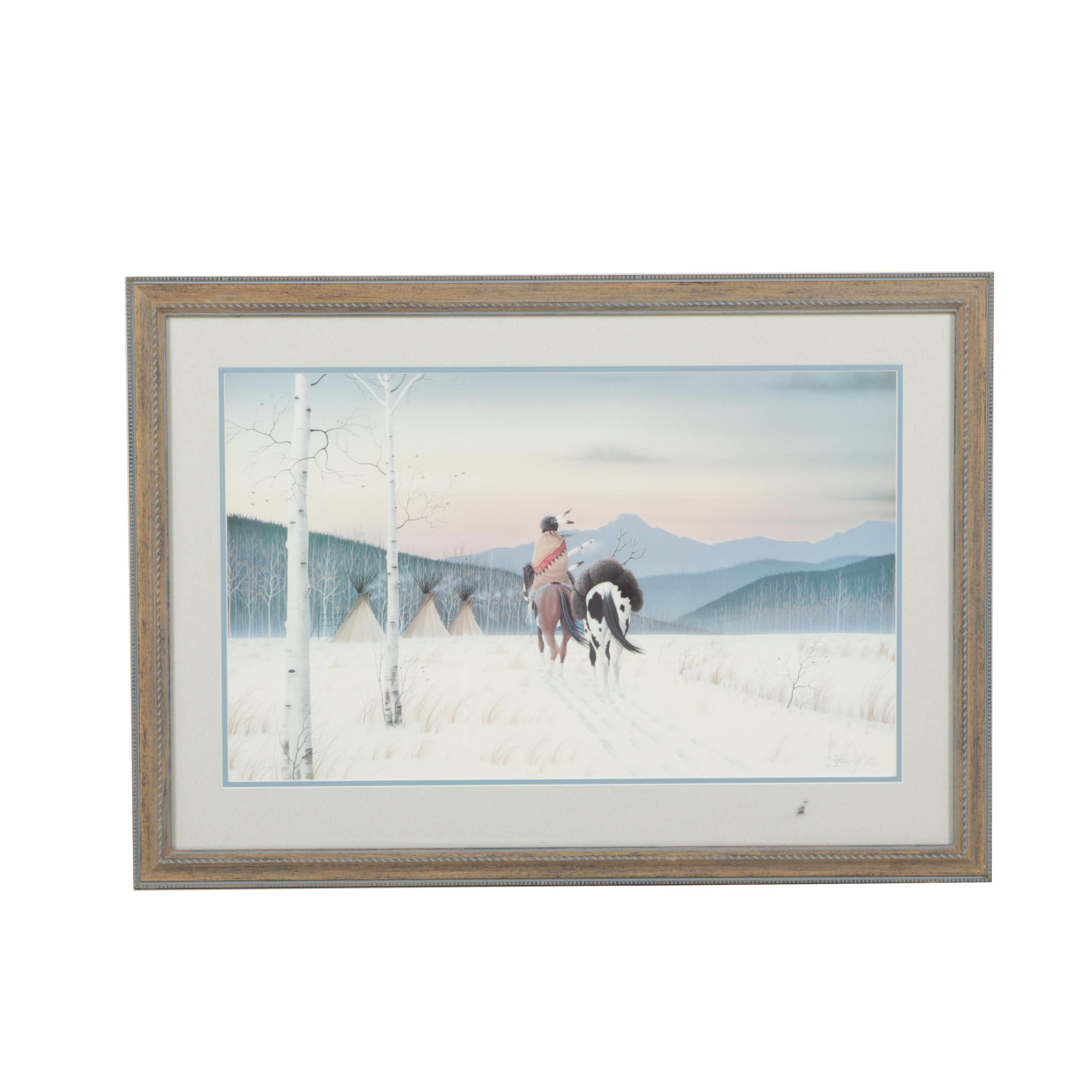"Donald Vann Limited Edition Offset Lithograph ""December Sky"""