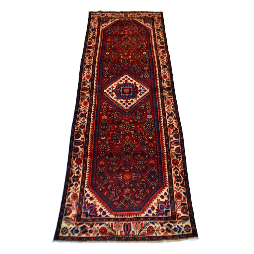 Hand Knotted Persian Wool Area Rug Ebth: Hand-Knotted Joshegan Wool Runner Rug