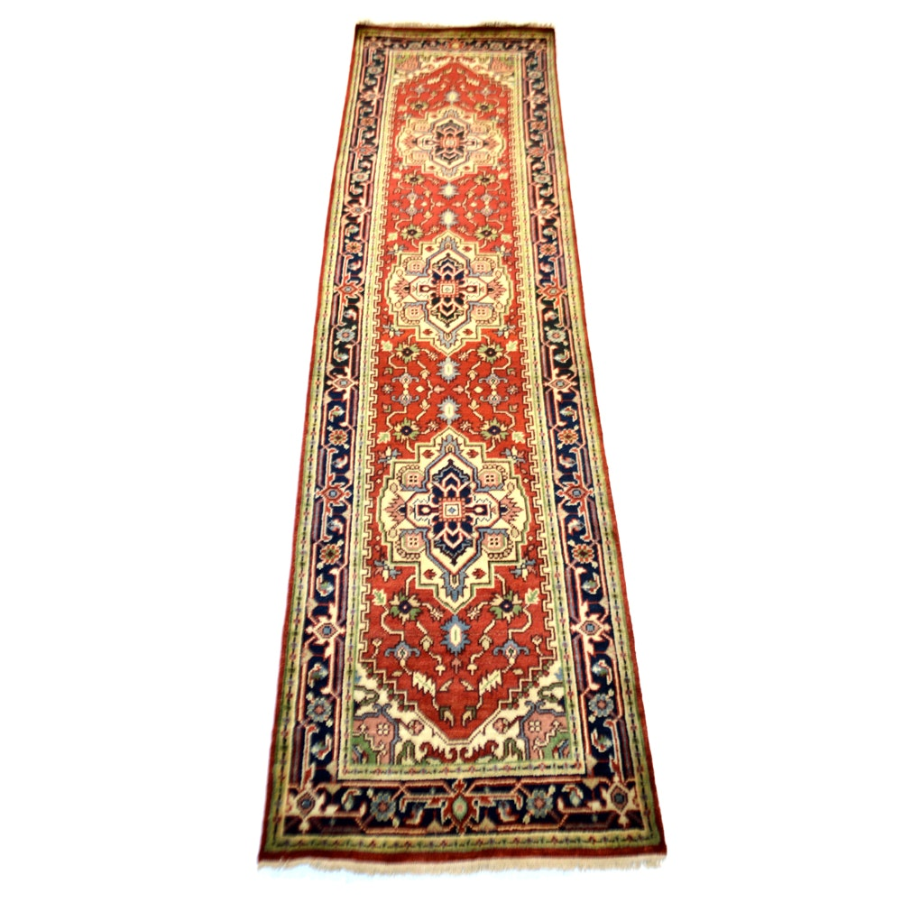 Hand-Knotted Indo-Persian Bakhshayesh Wool Runner Rug