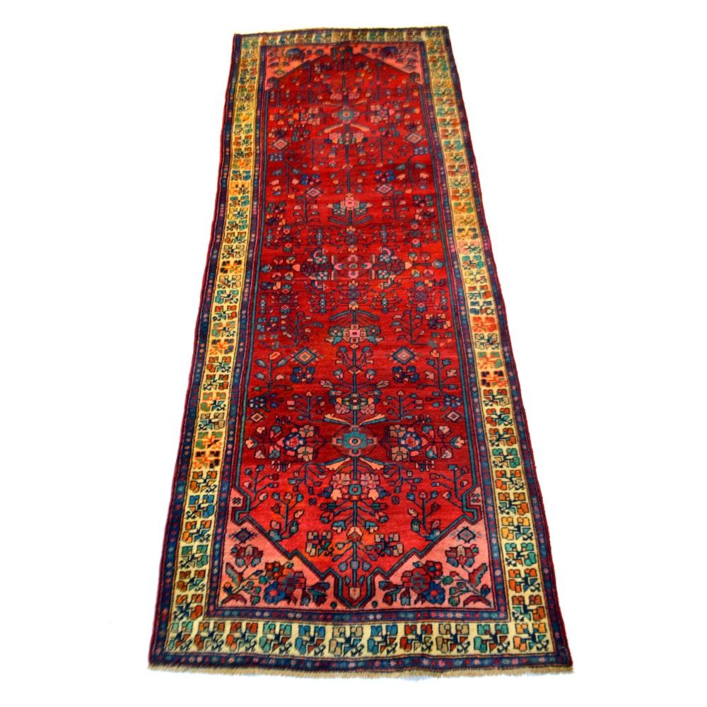 Hand-Knotted Vintage Persian Mallayer Sarouk Carpet Runner