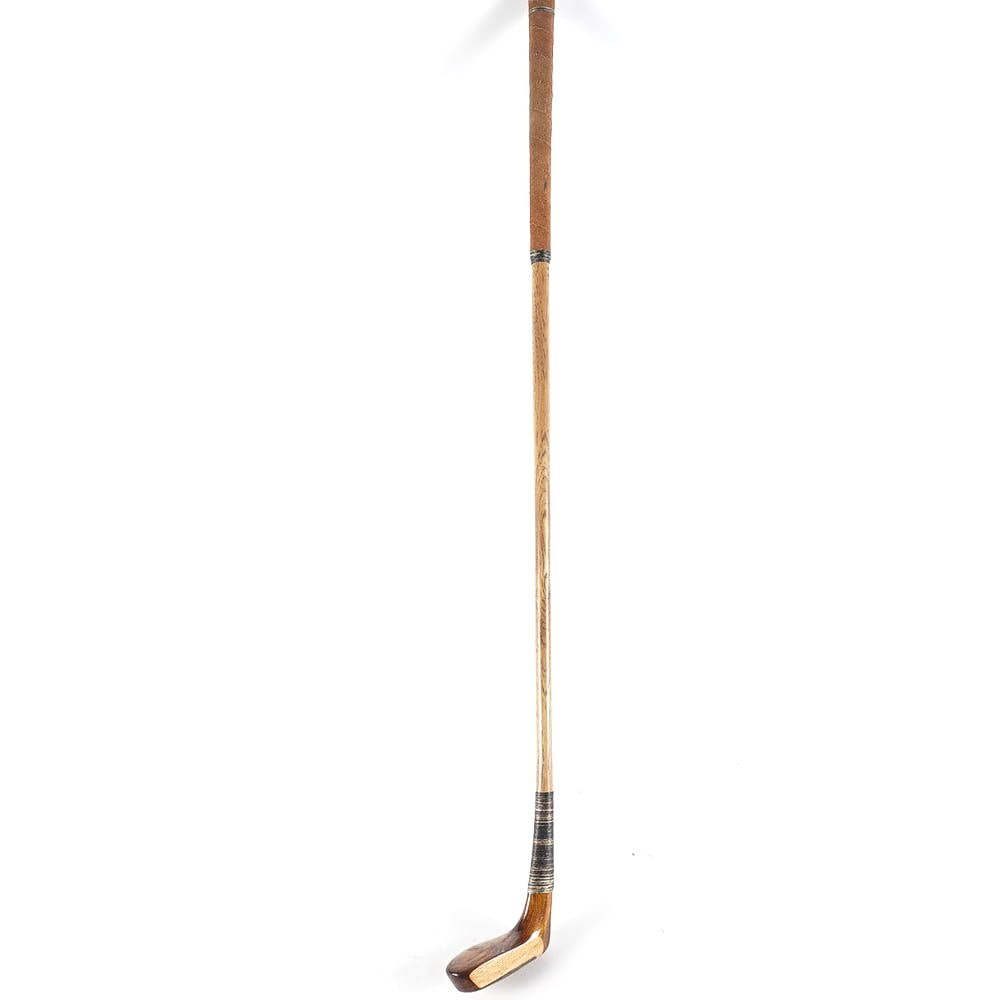 """Vintage Abercrombie & Fitch """"The Duke"""" Handmade Wooden Putter"""