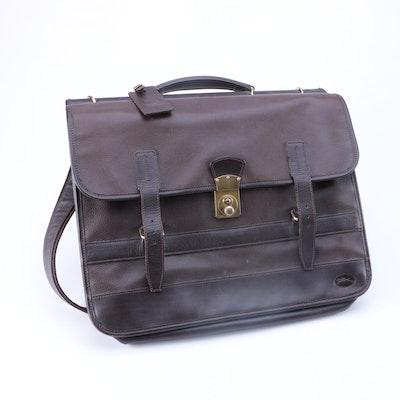 Longchamp Black Leather Messenger Bag