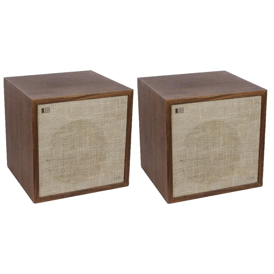 Pair of Vintage 3D XAM Stereo Speakers