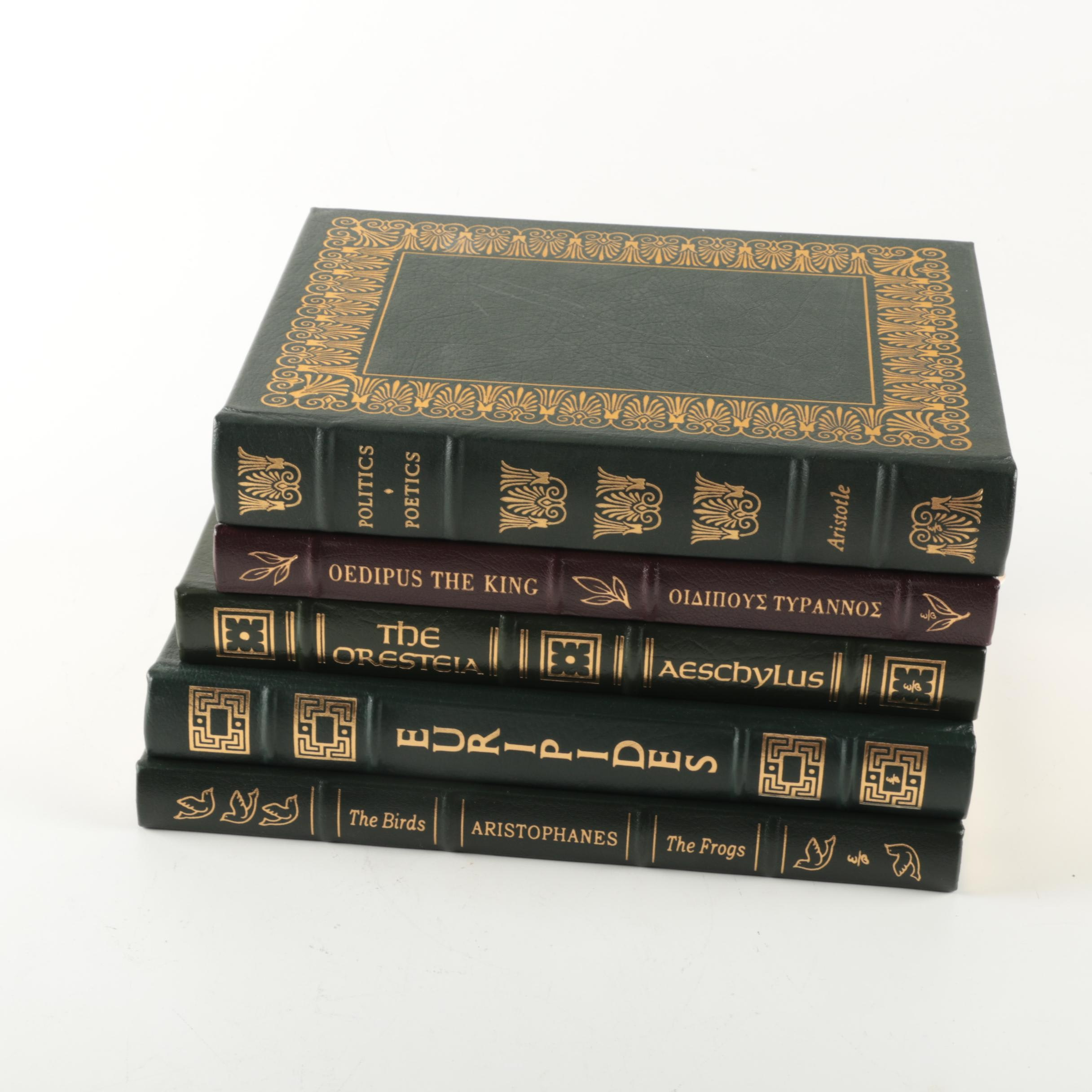 Easton Press Edition Novels featuring Aristotle and Sophocles