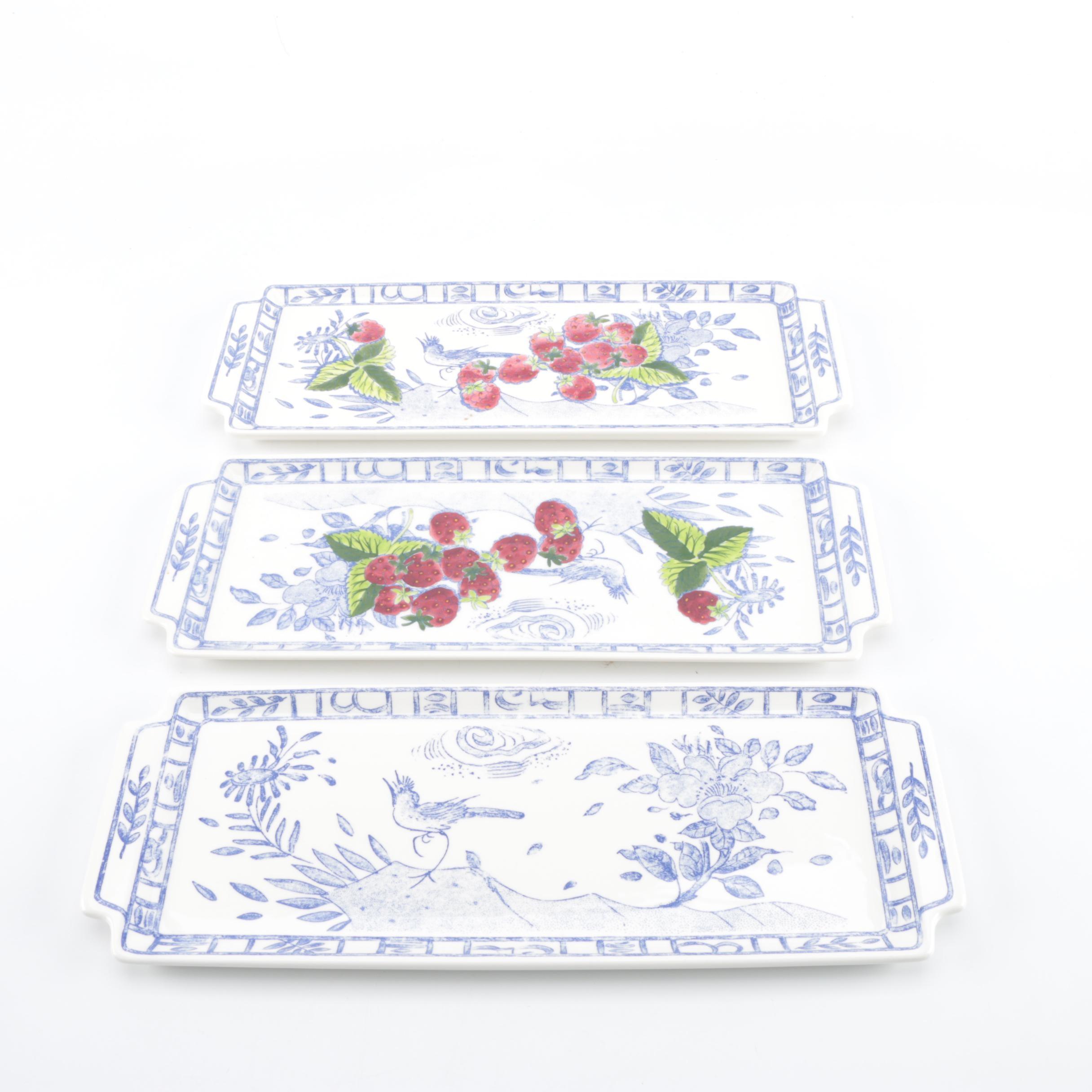 Set of Gien France Serving Plates